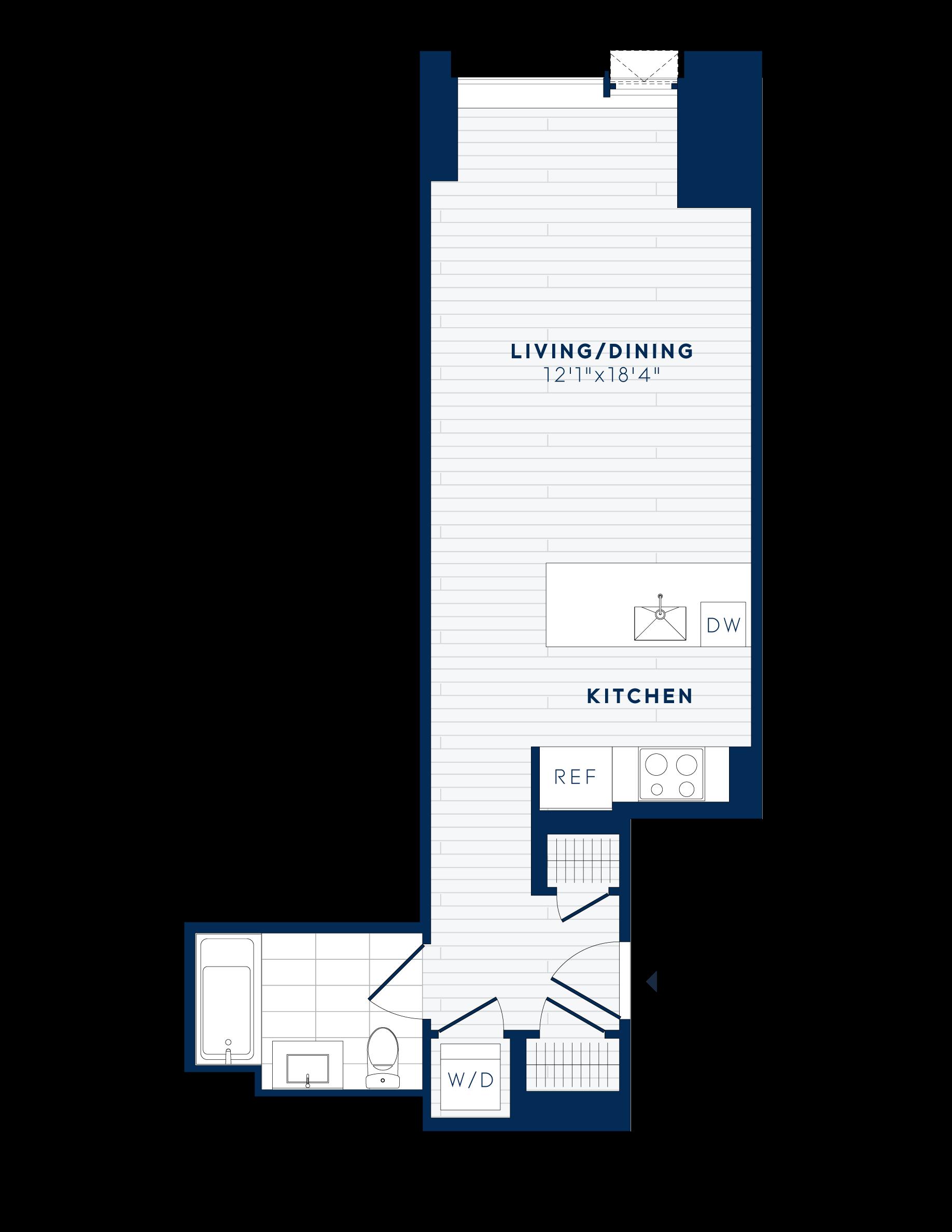 floor plan image of apartment 602