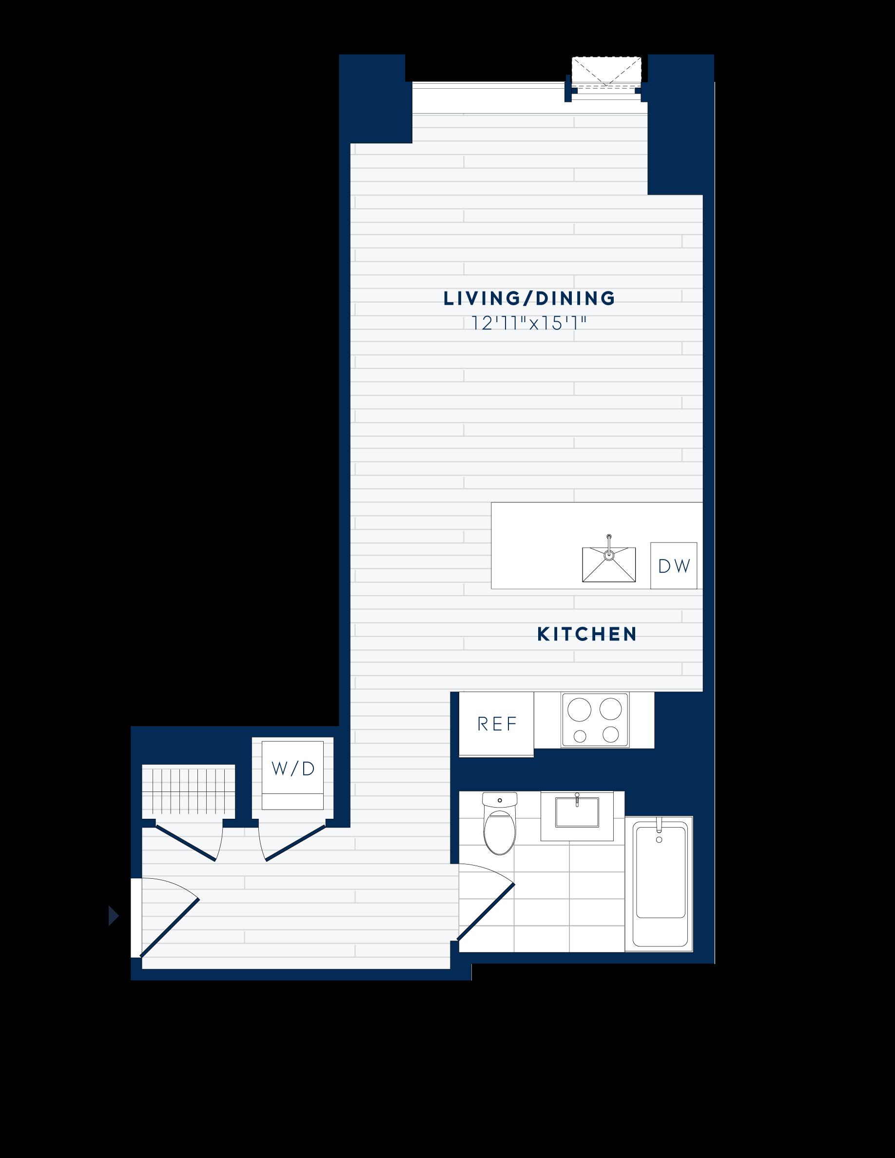 floor plan image of apartment 807