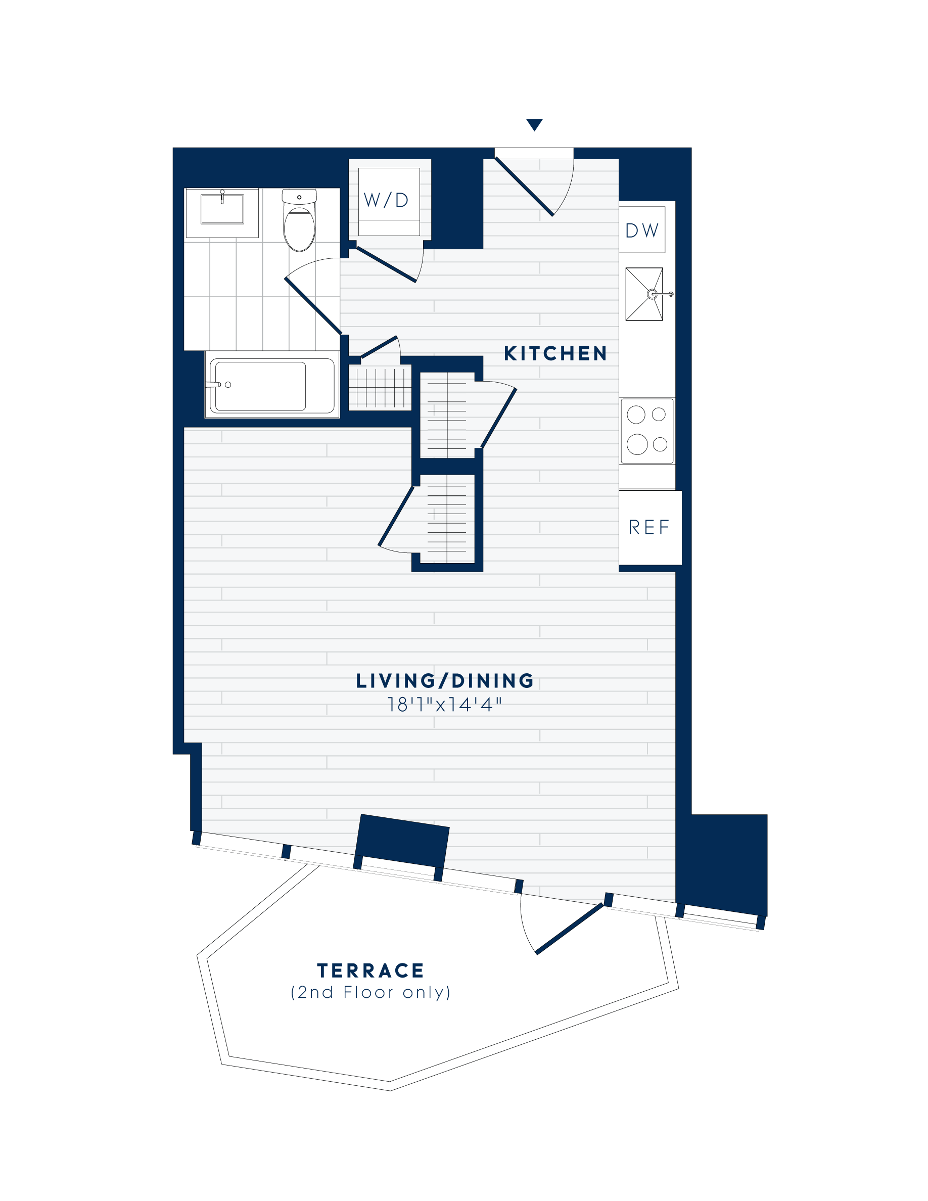 floor plan image of apartment 1113