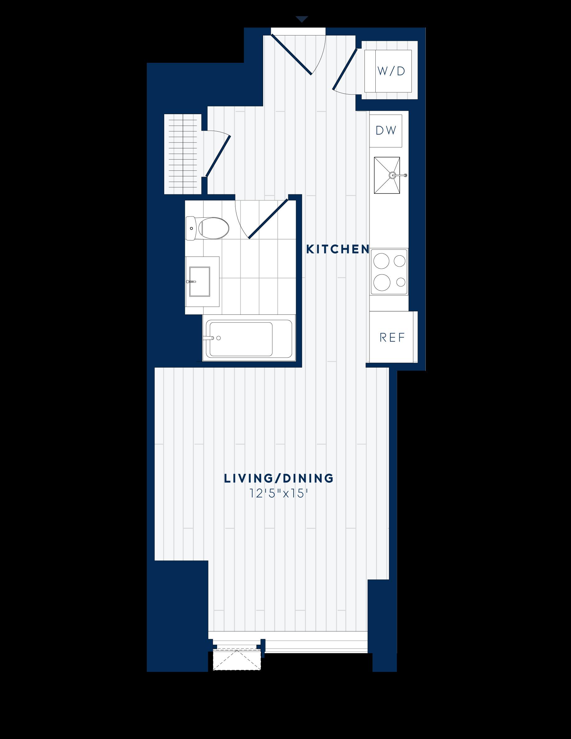 floor plan image of apartment 233