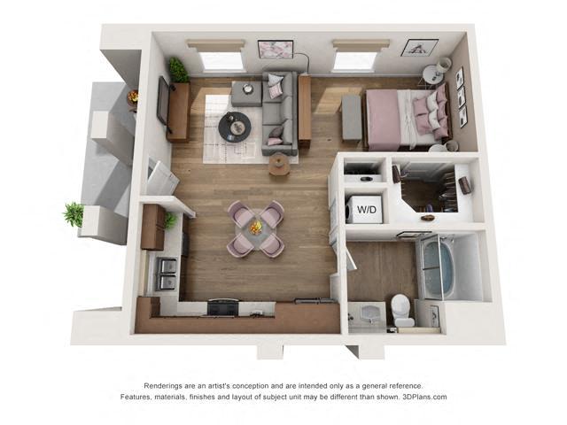 Floor Plan Studio A1 Layout