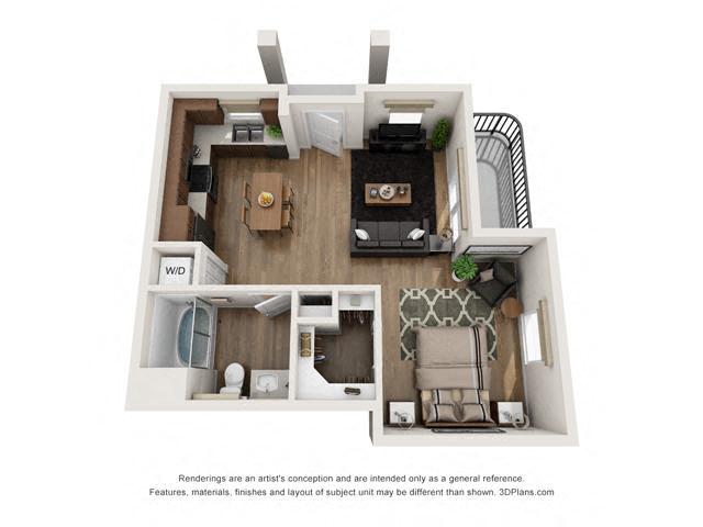 Floor Plan Studio A2 Layout