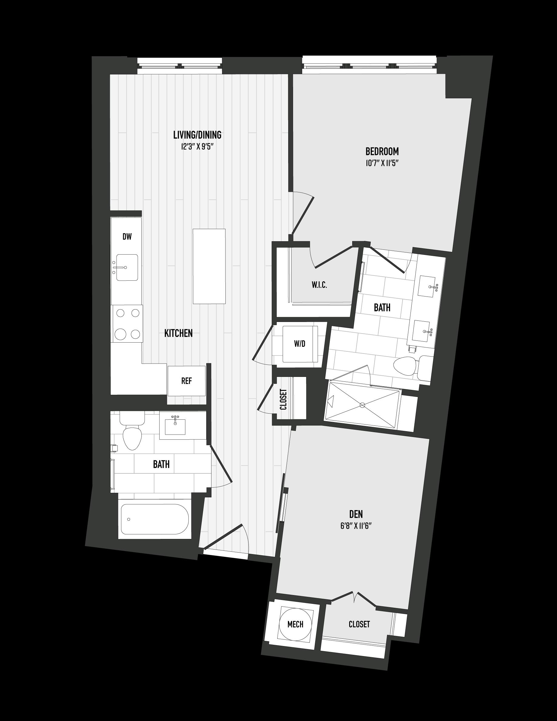 APT. 201 floor plan thumb