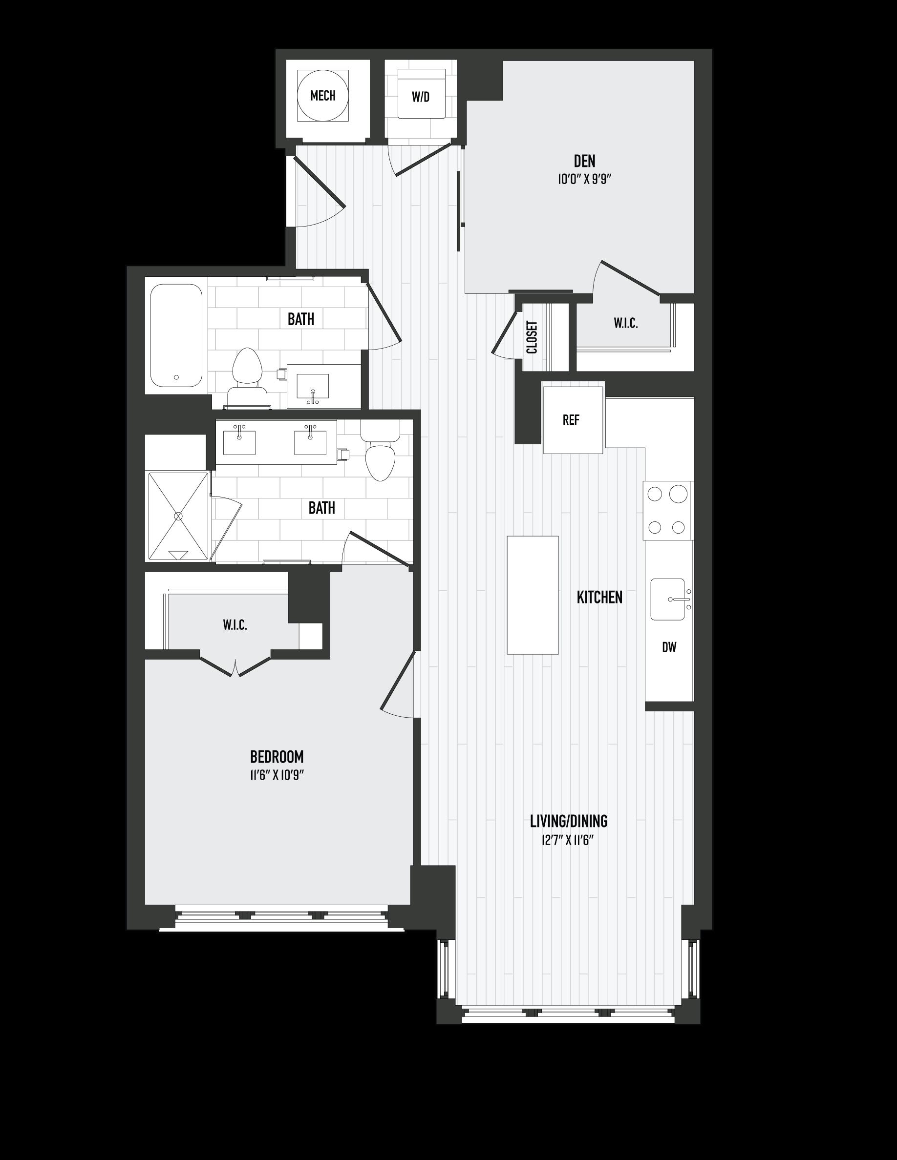 APT. 220 floor plan thumb