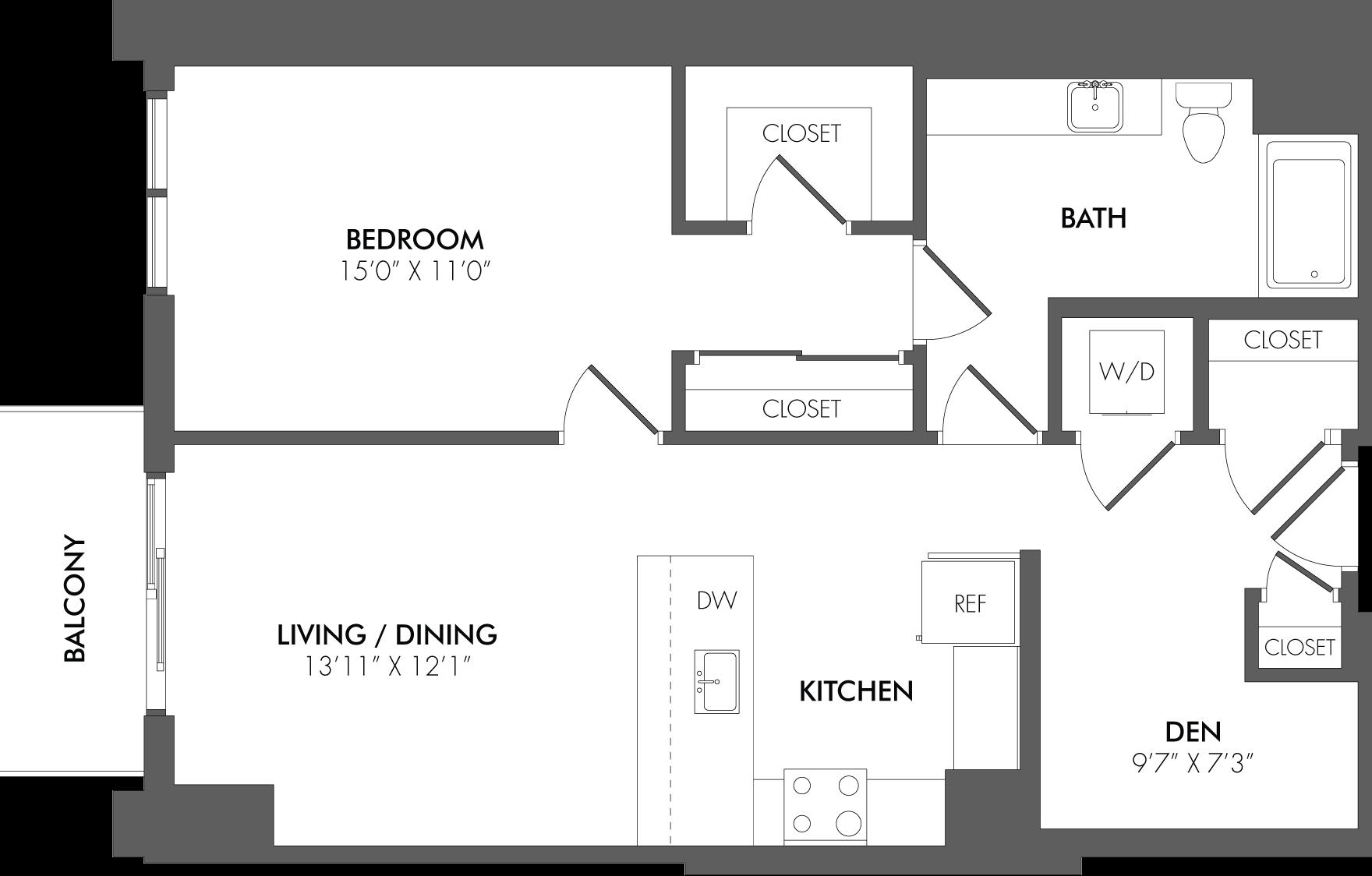 Apartment 3608 floorplan