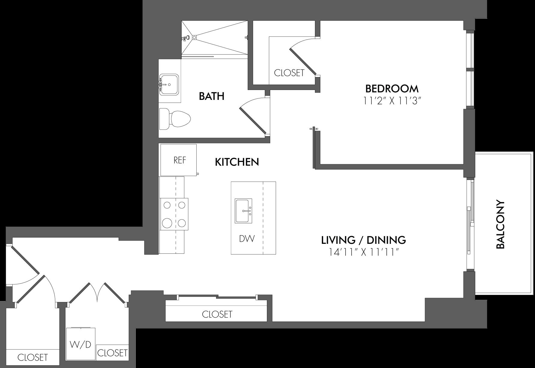 Apartment 3107 floorplan