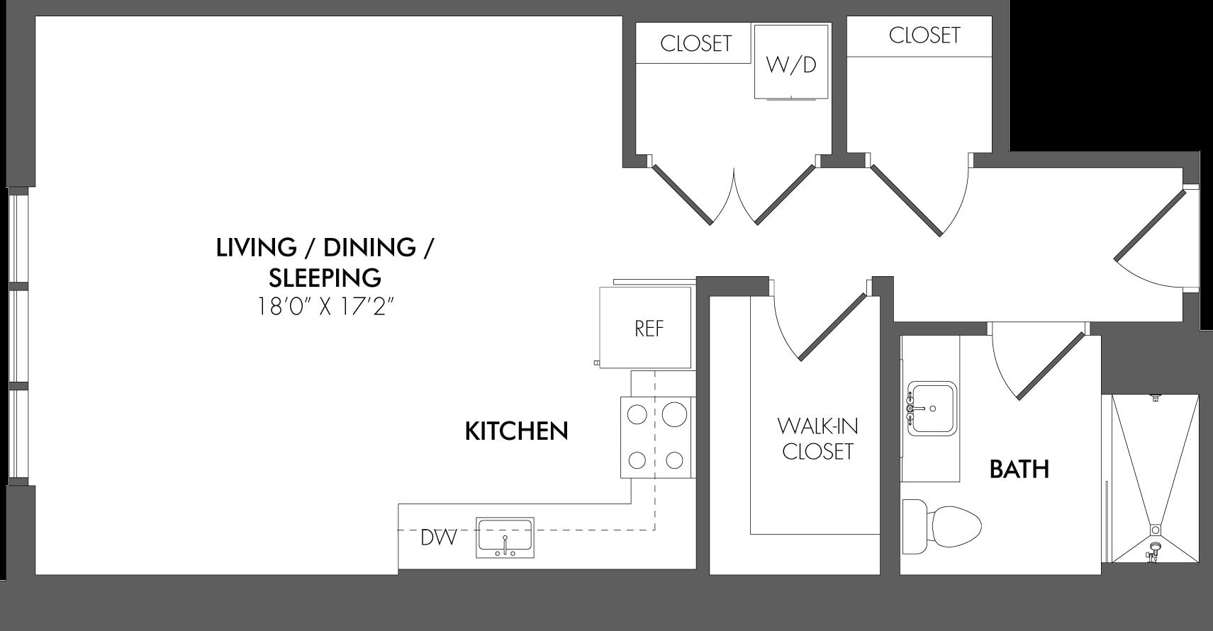 Apartment 1709 floorplan