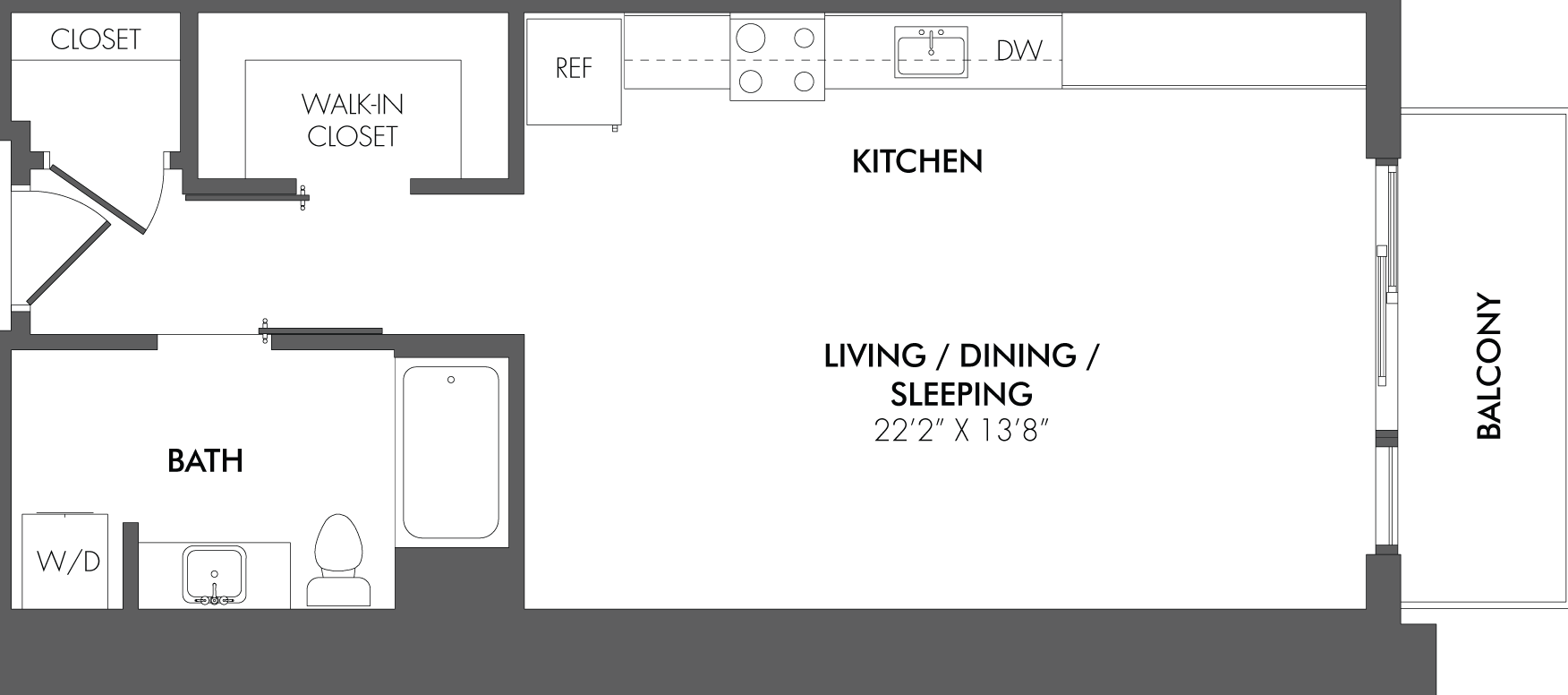 Apartment 2403 floorplan
