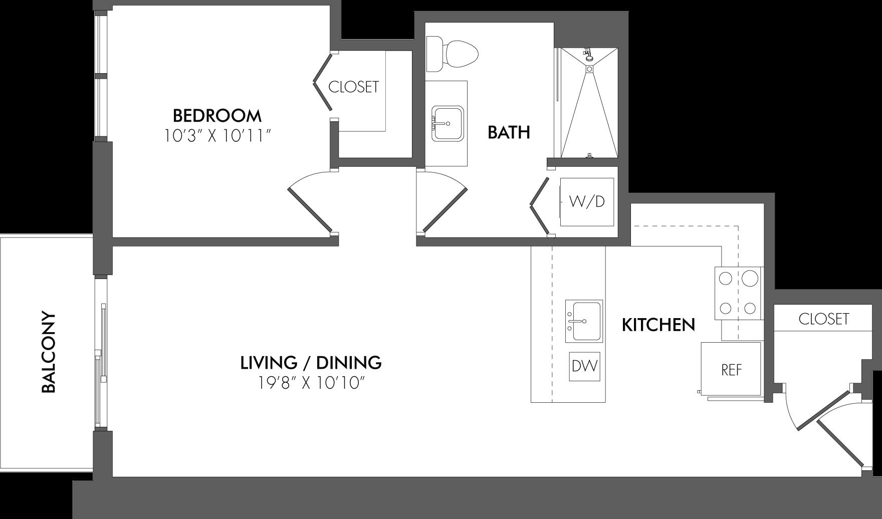 Apartment 2412 floorplan