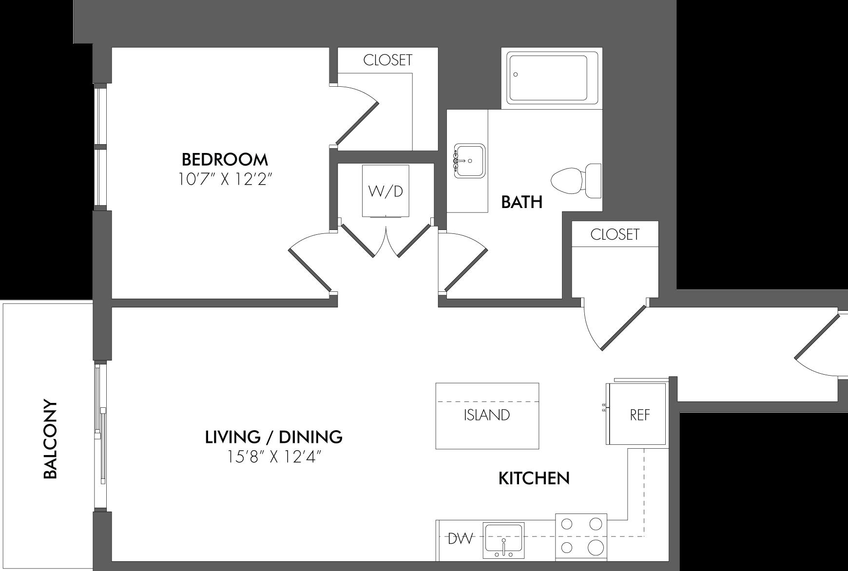 Apartment 2310 floorplan