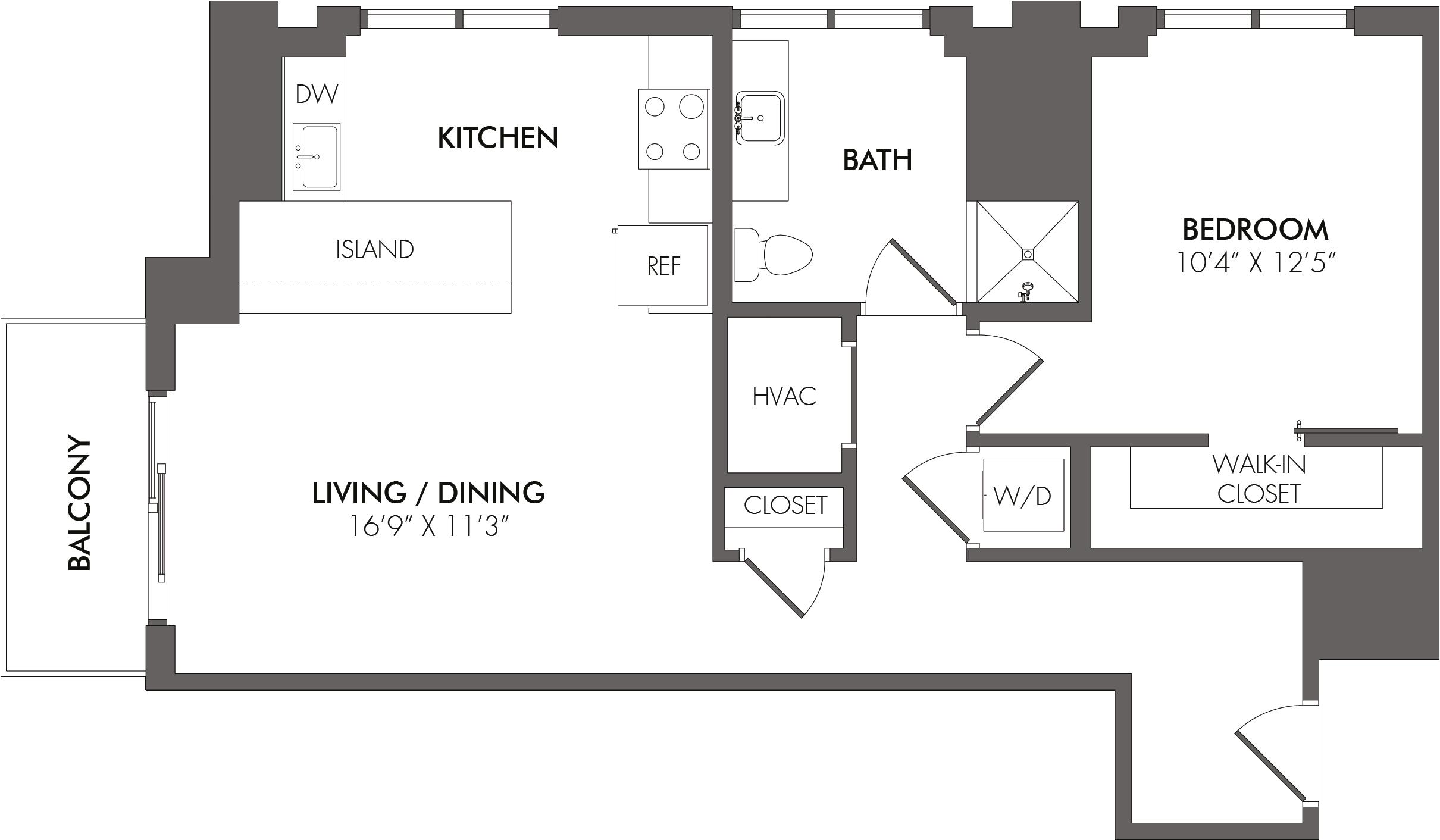 Apartment 2811 floorplan