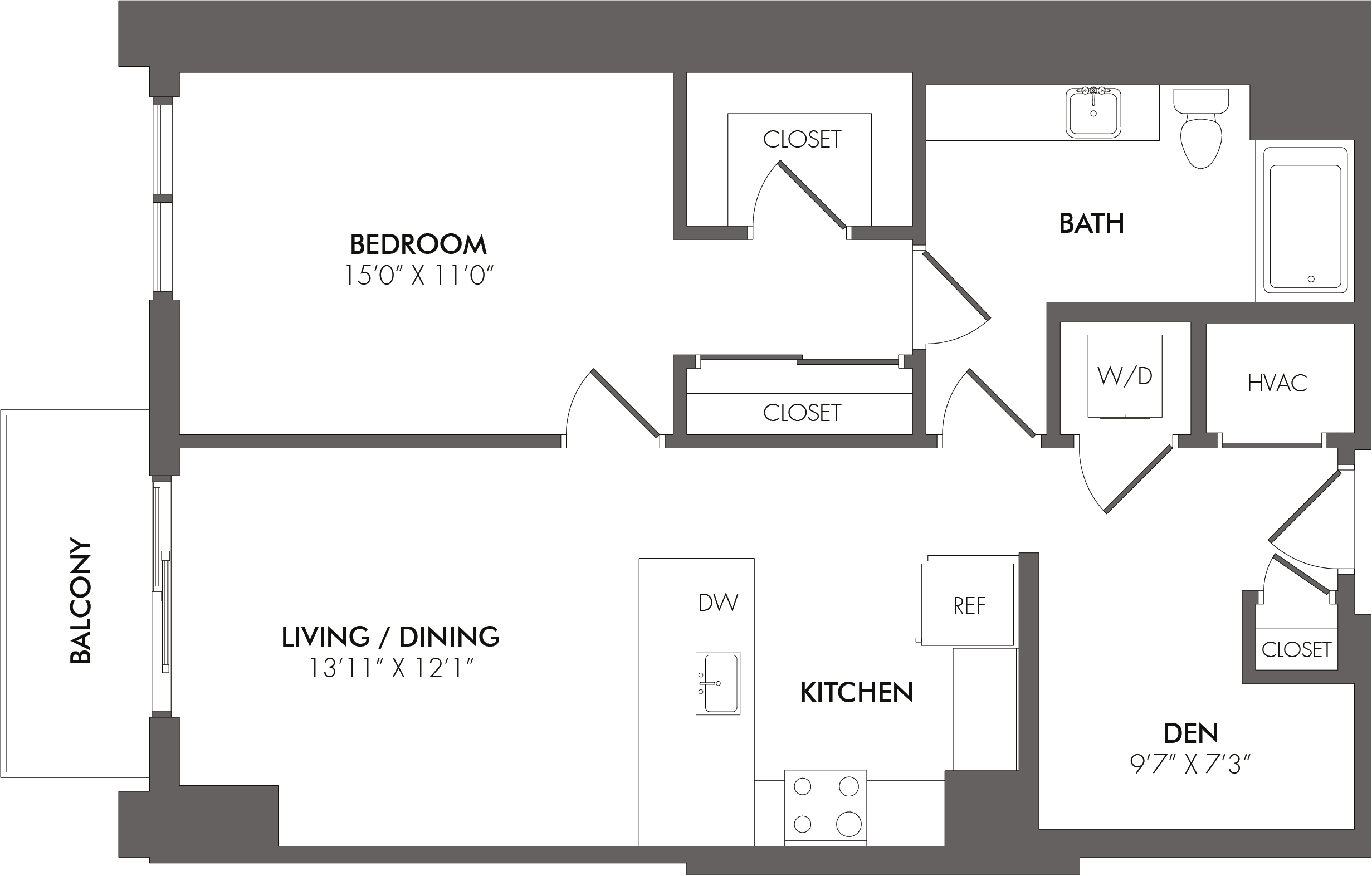 Apartment 3408 floorplan