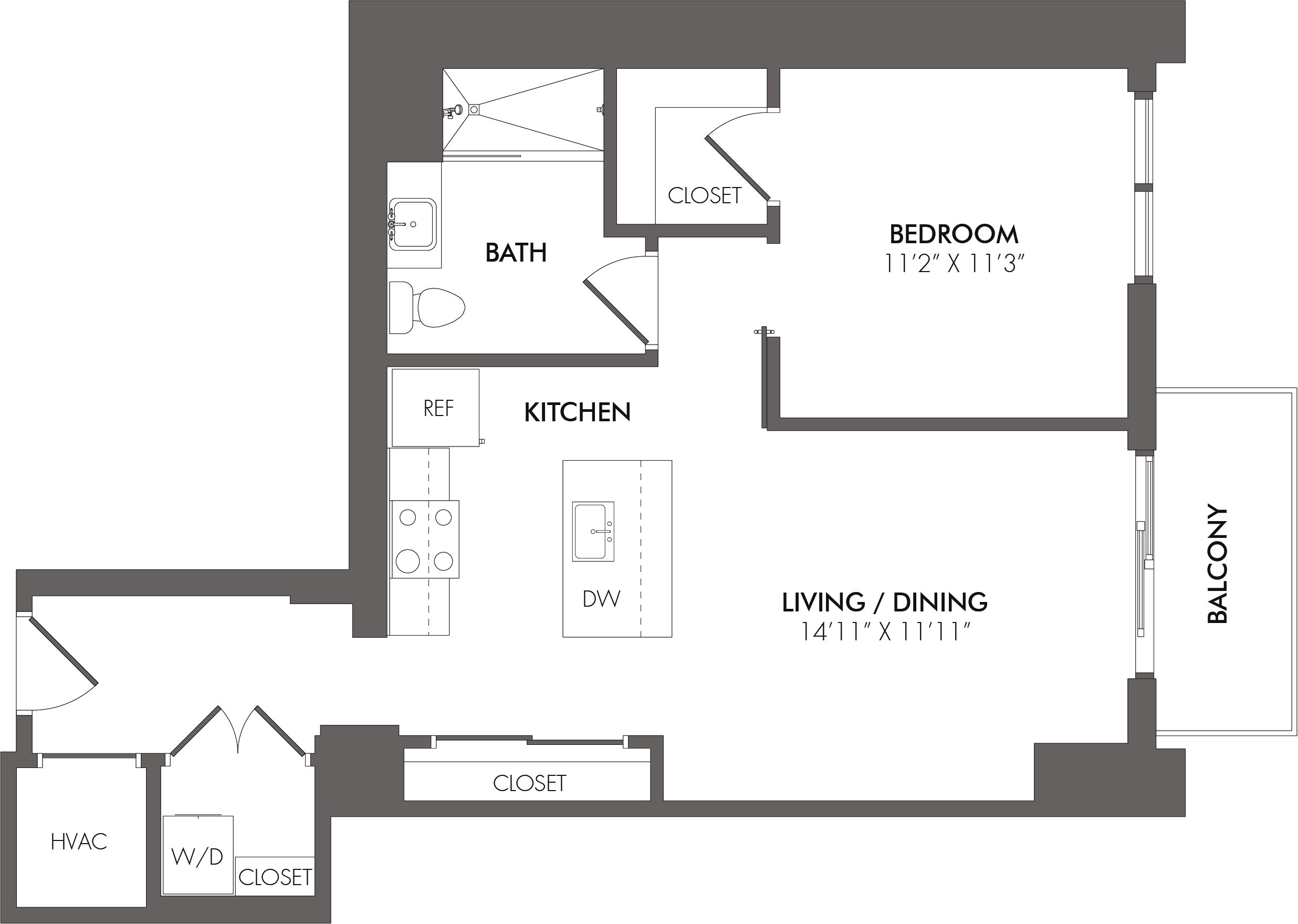 Apartment 3407 floorplan