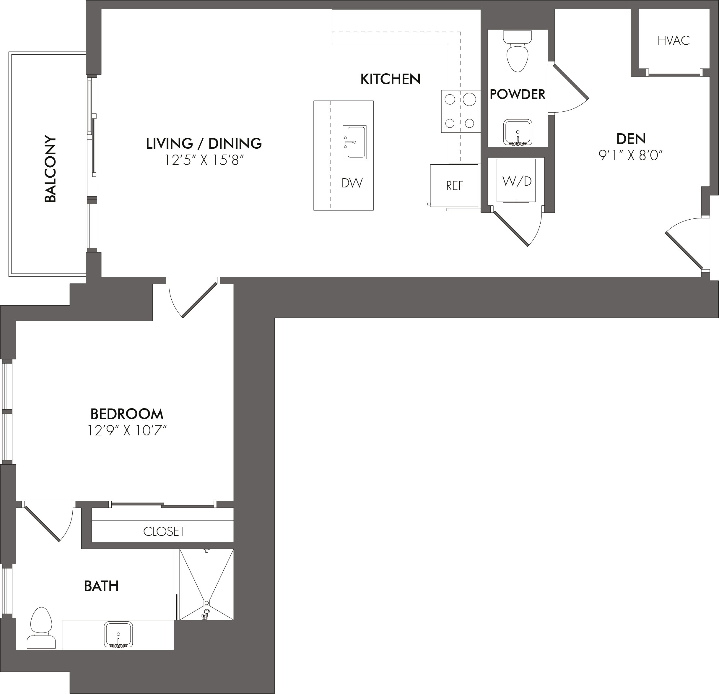 Apartment 1704 floorplan