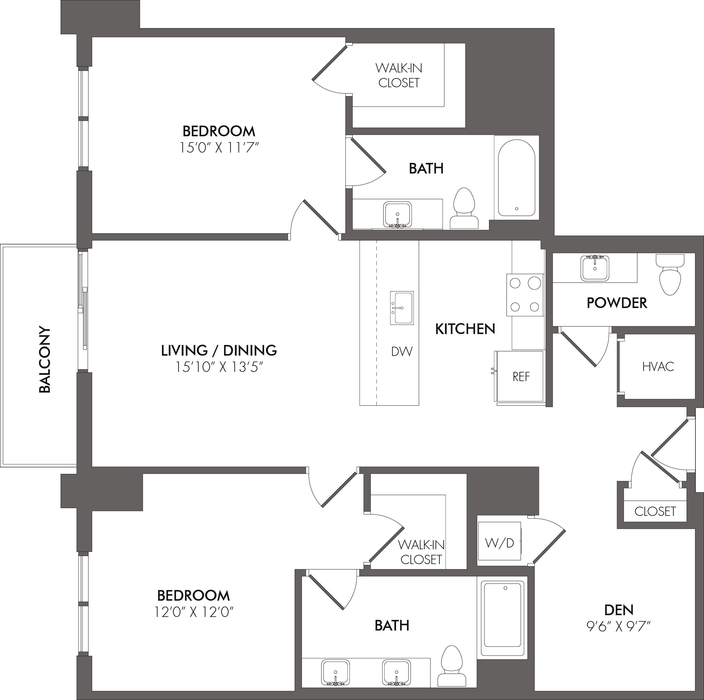 Apartment 4106 floorplan