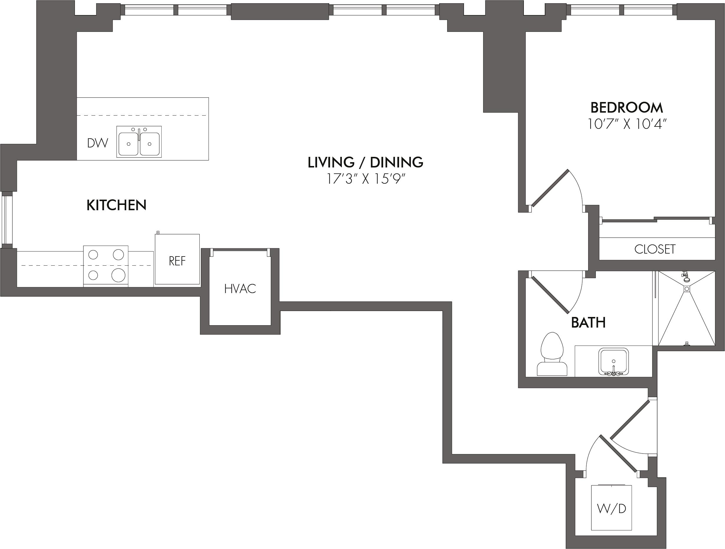 Apartment 3213 floorplan