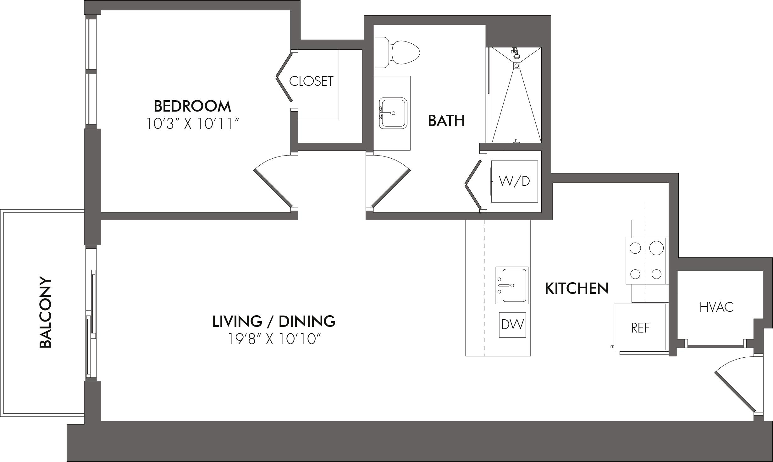 Apartment 3711 floorplan
