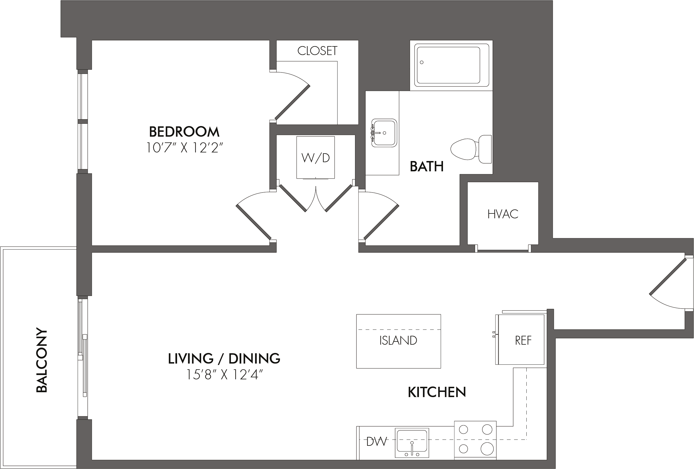 Apartment 2610 floorplan