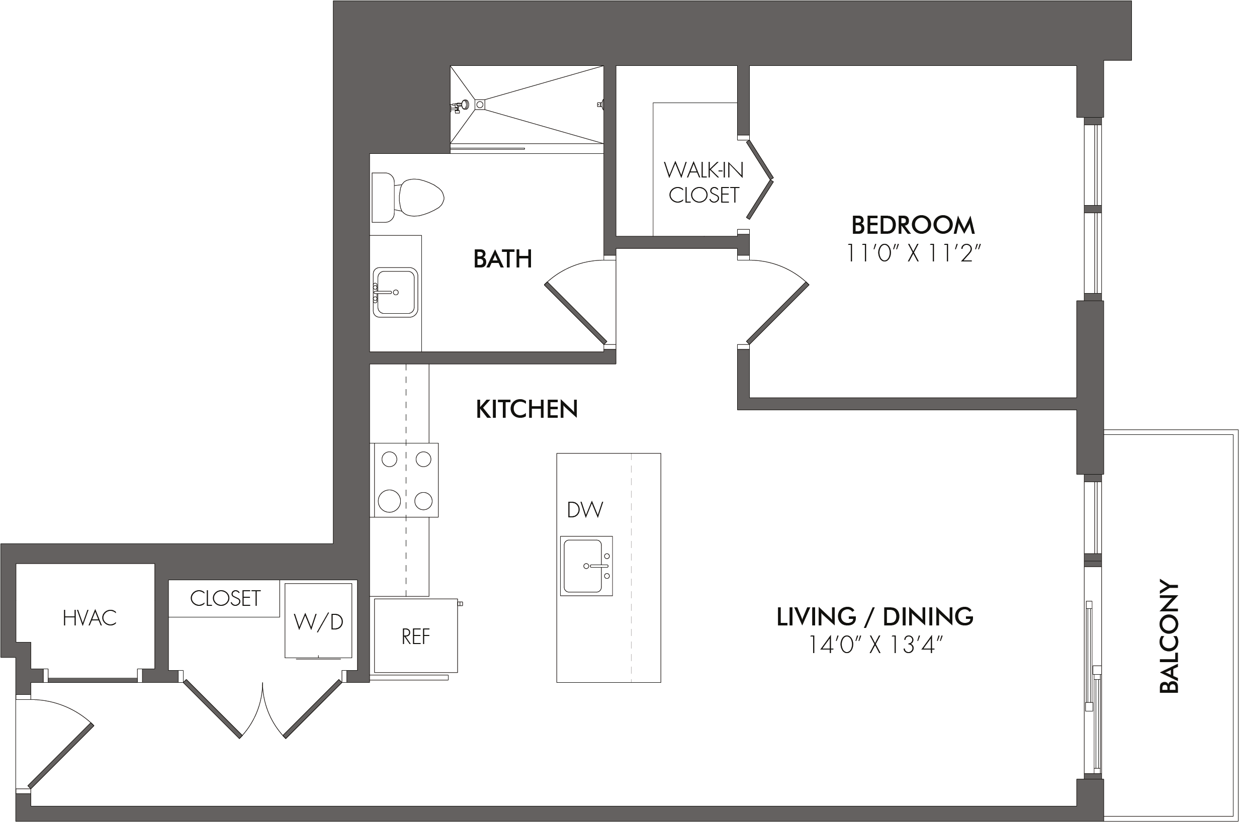 Apartment 2509 floorplan