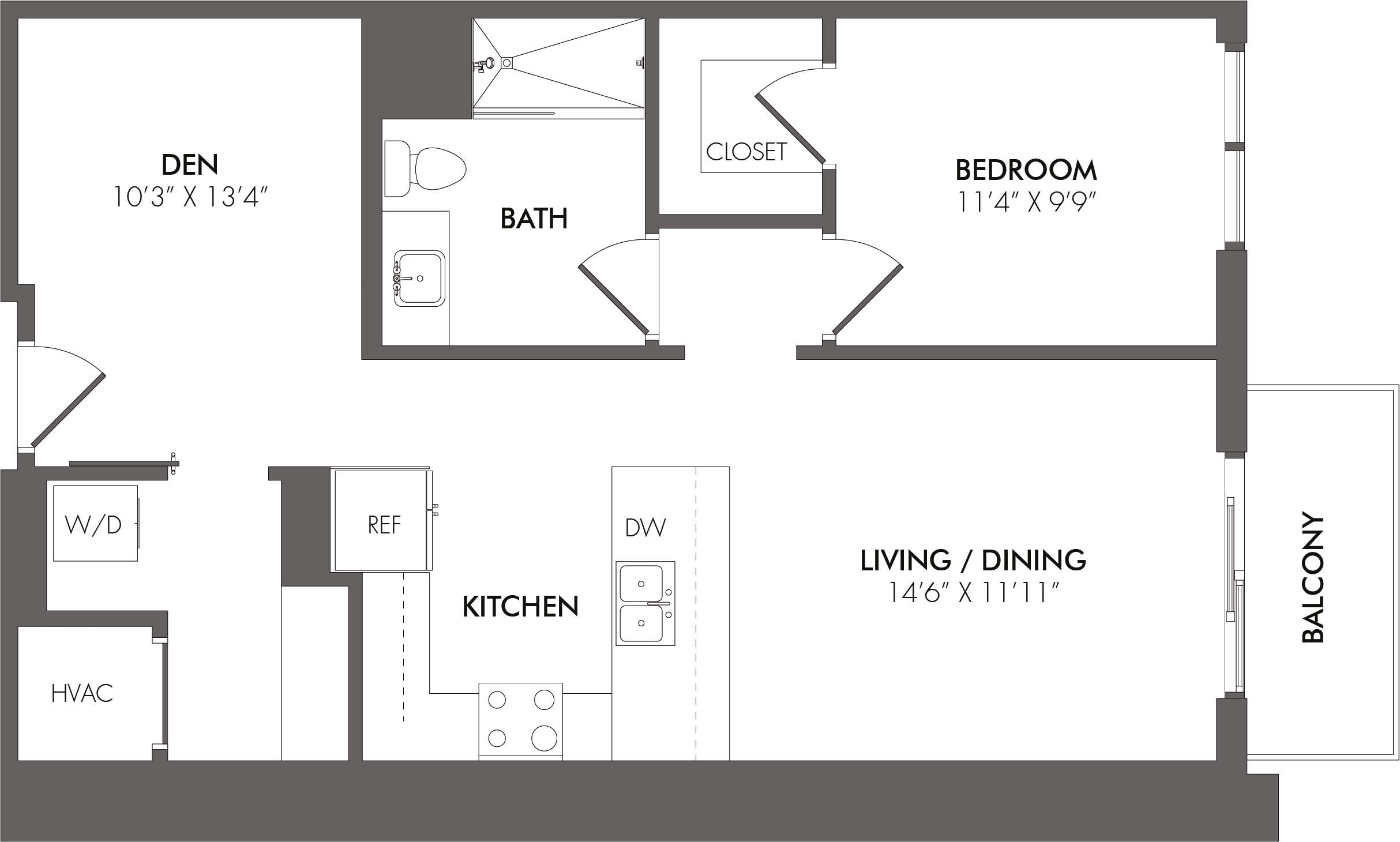 Apartment 3503 floorplan