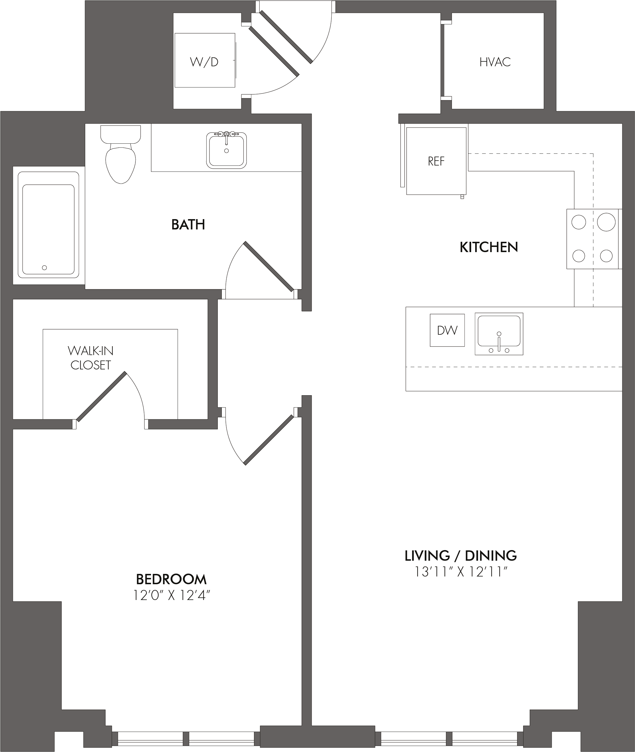 Apartment 3100 floorplan