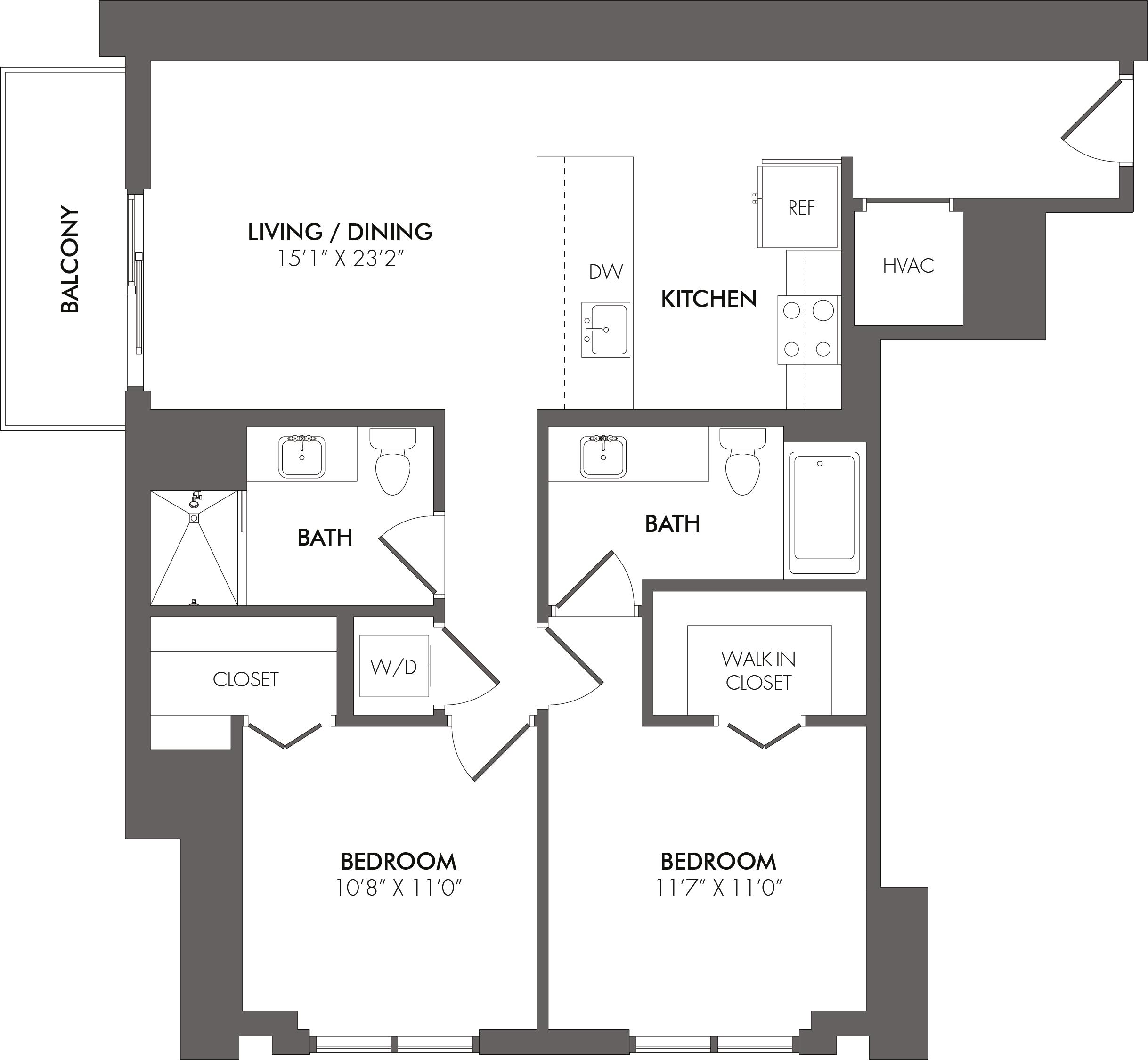 Apartment 4001 floorplan
