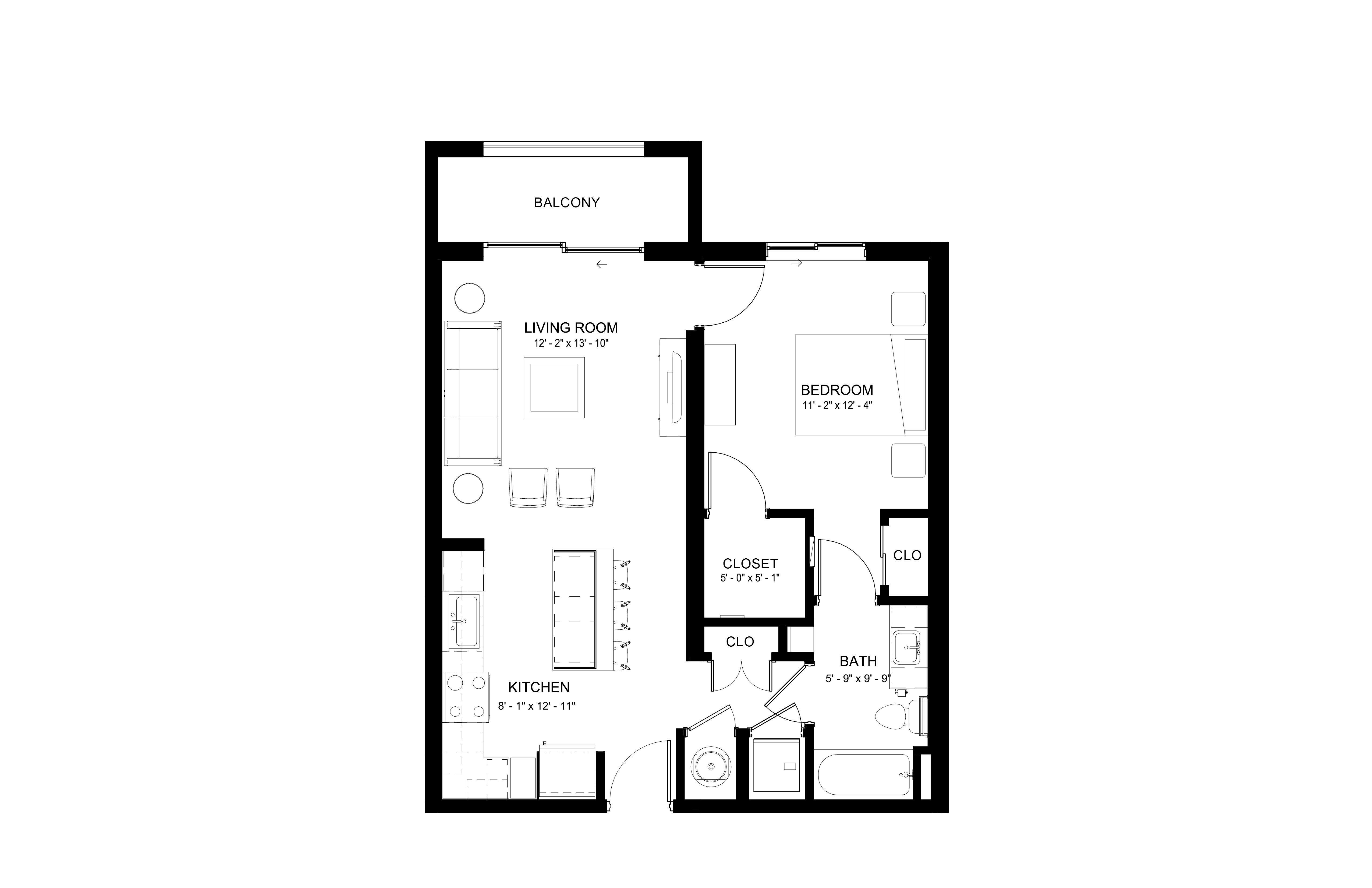 Apartment 332 floorplan