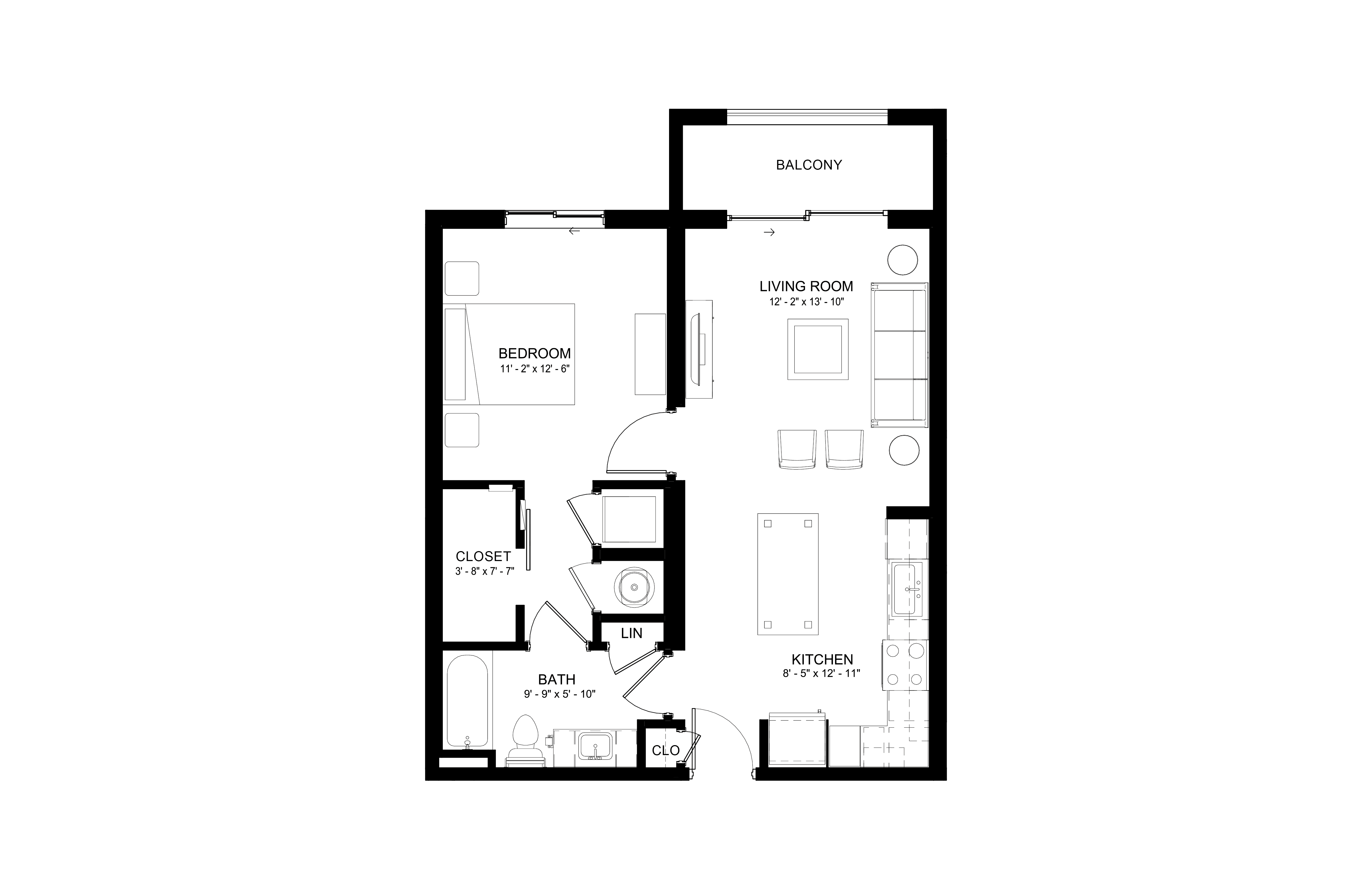 Apartment 241 floorplan
