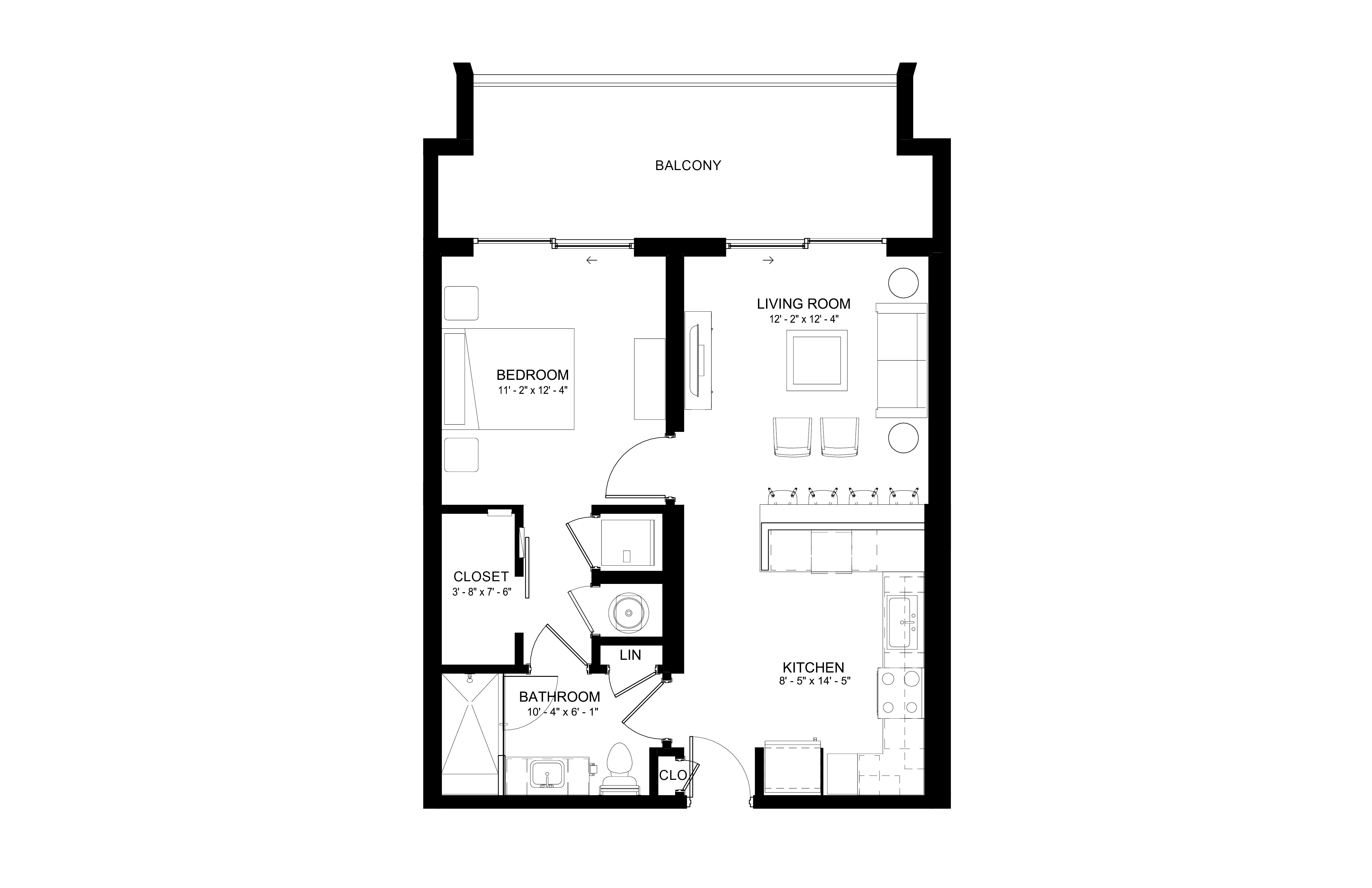 Apartment 208 floorplan