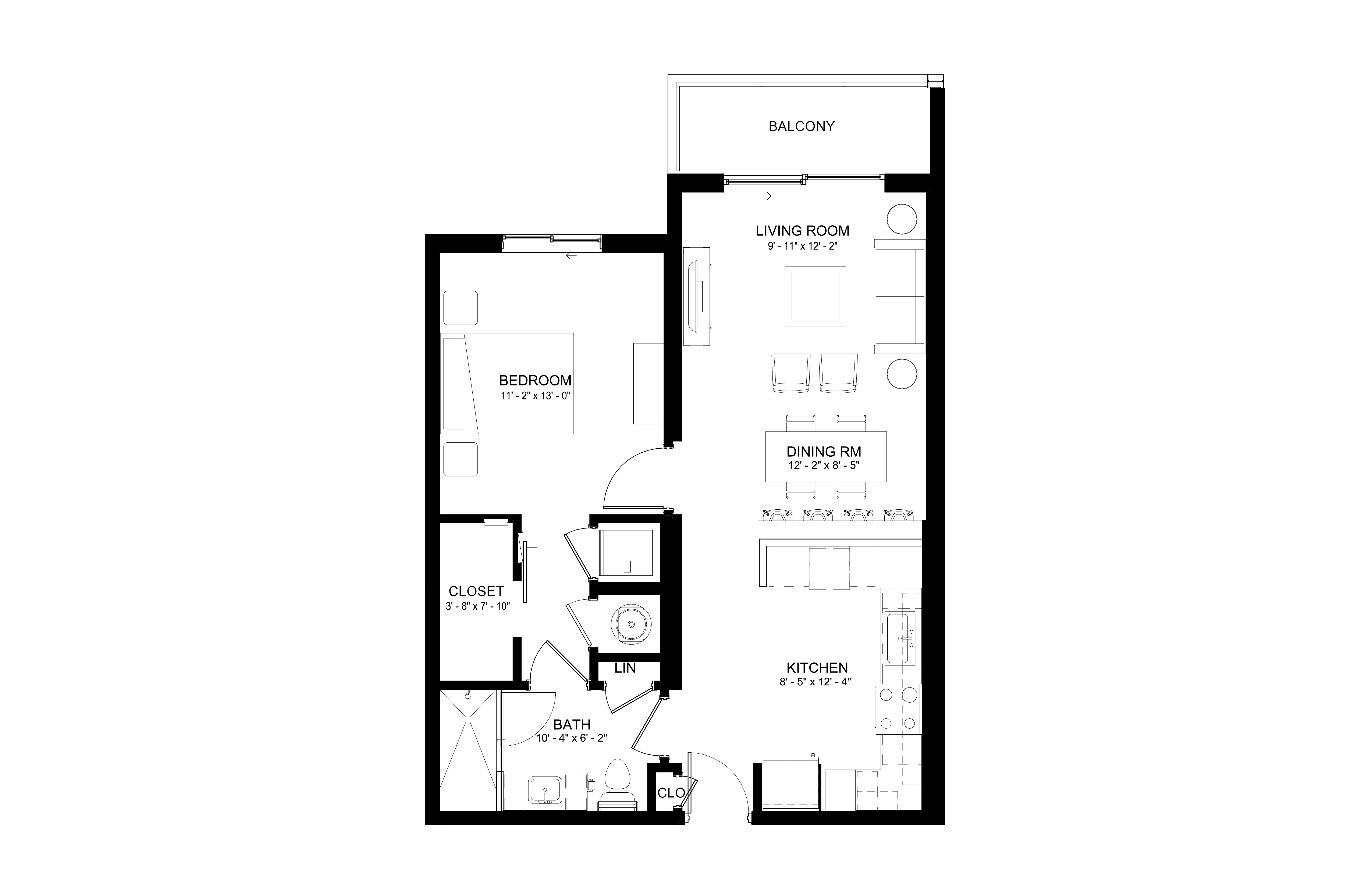 Apartment 203 floorplan