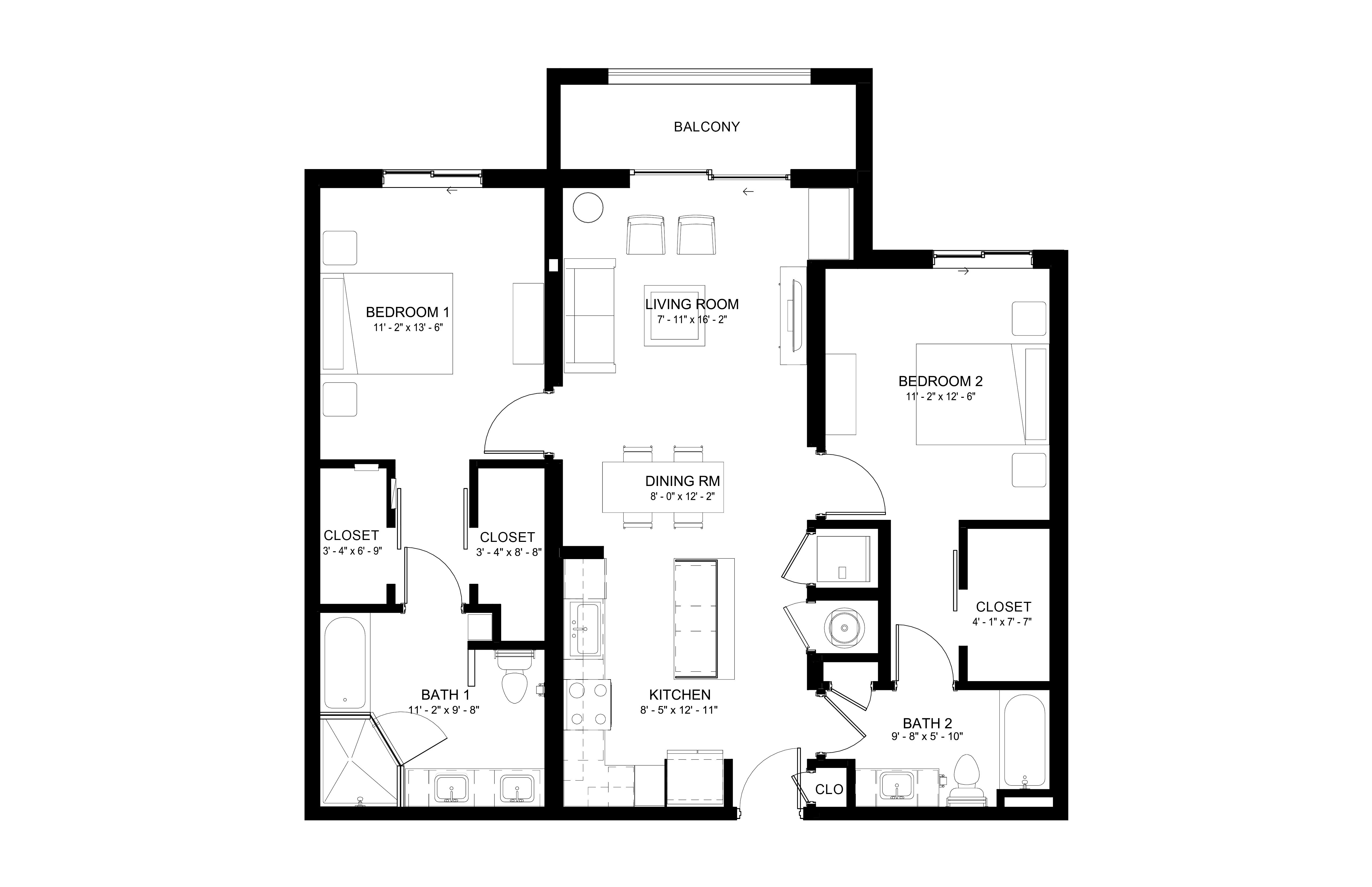 Apartment 130 floorplan