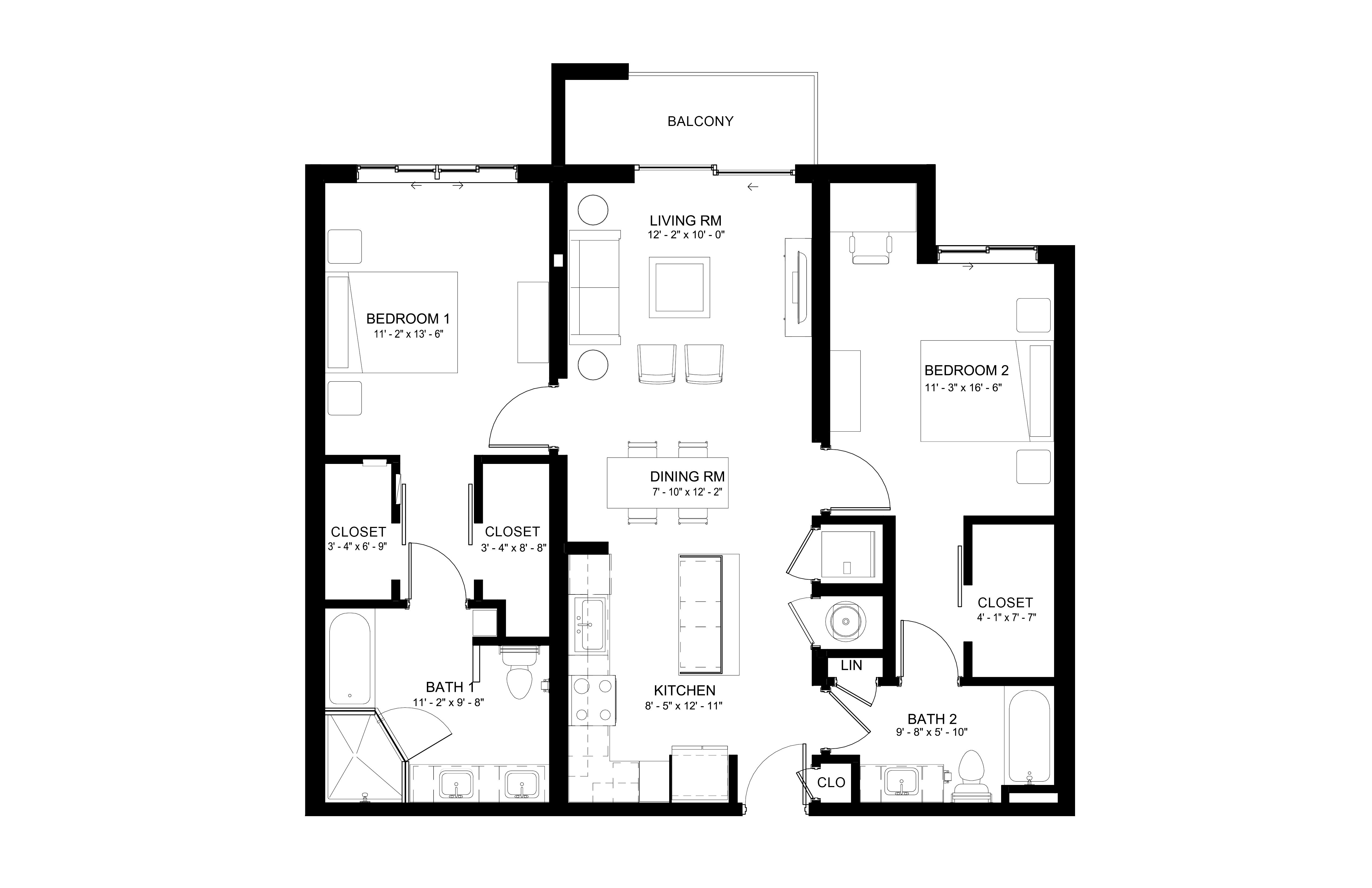 Apartment 630 floorplan