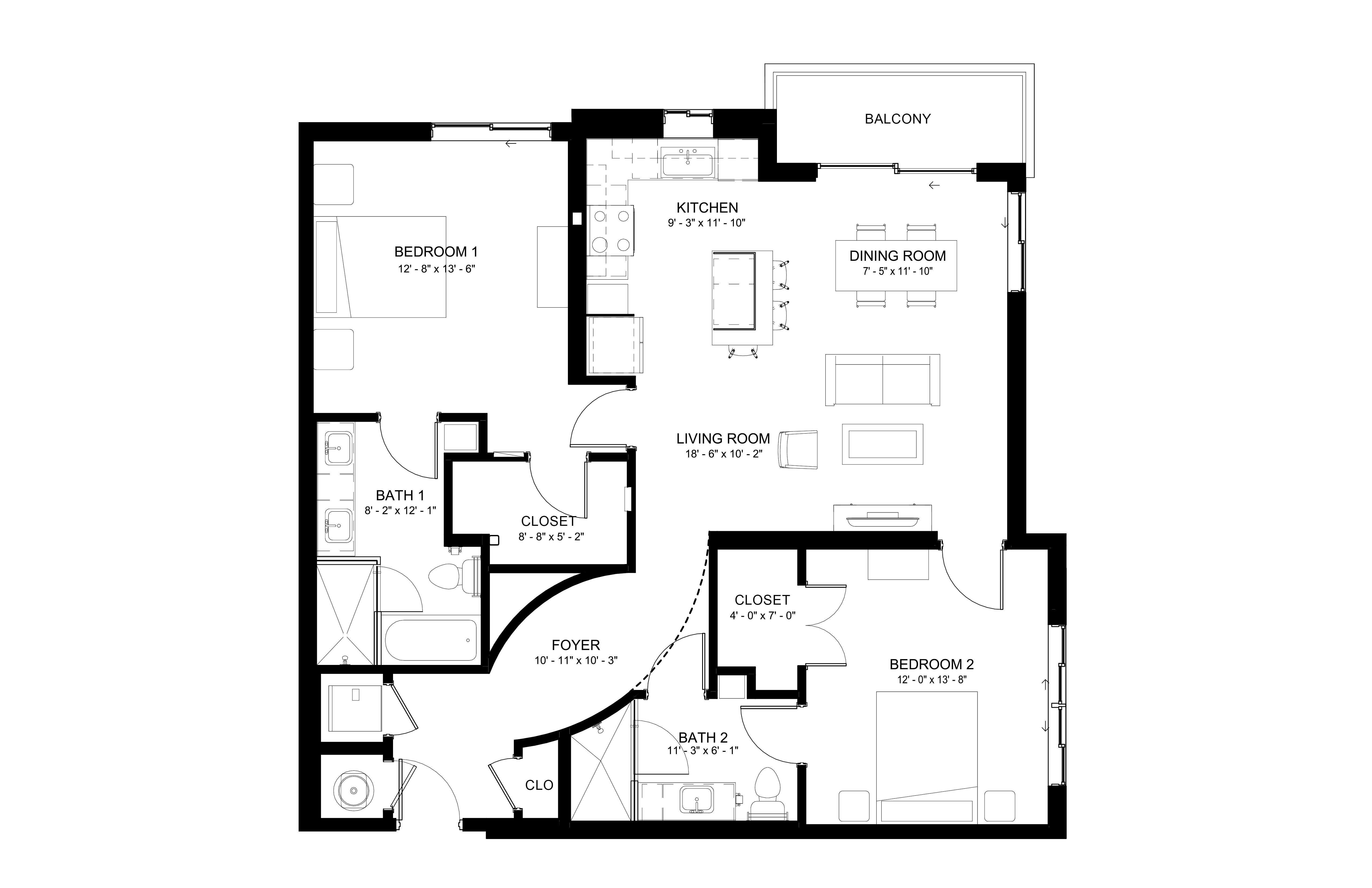 Apartment 112 floorplan