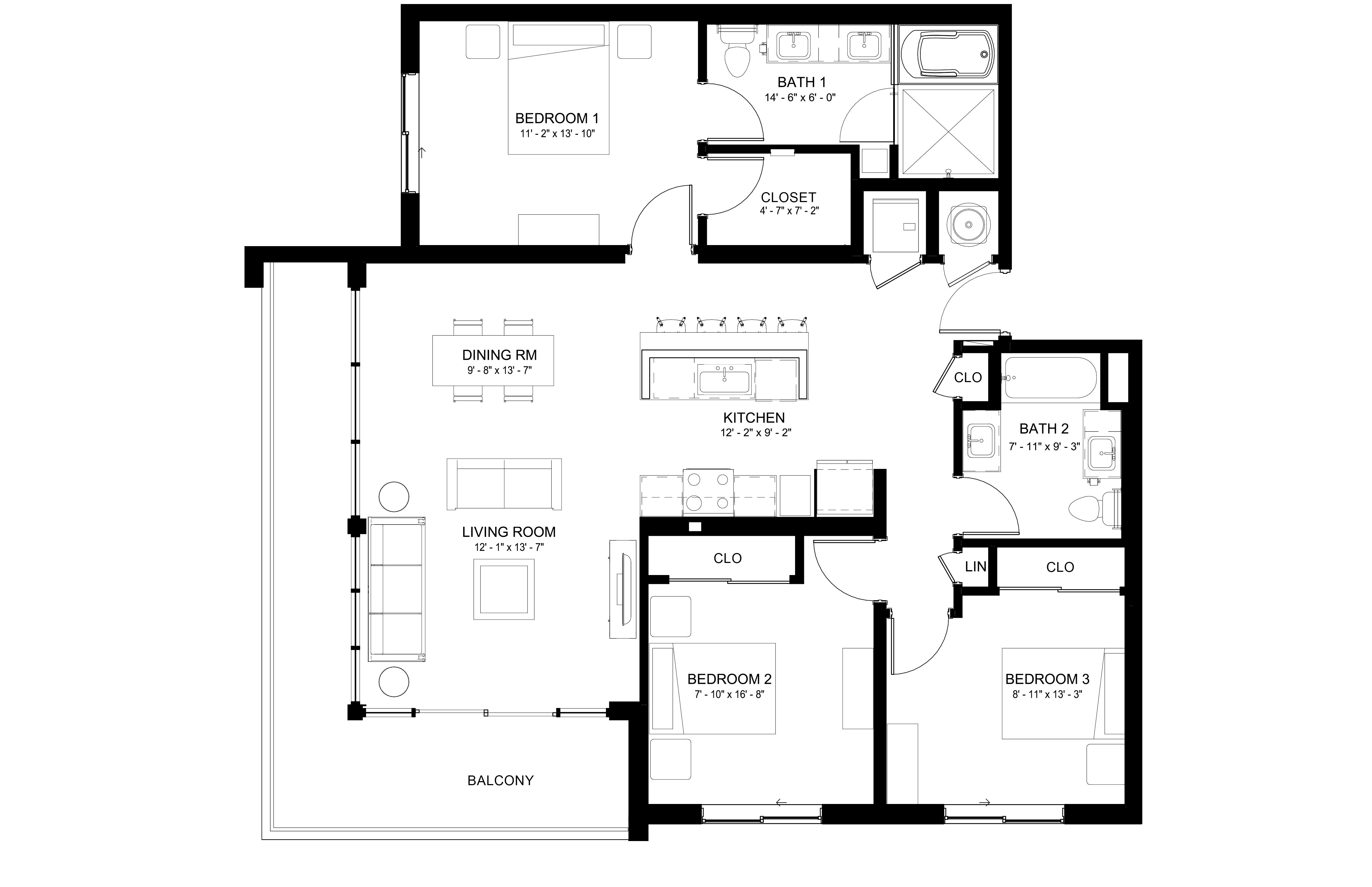 Apartment 642 floorplan