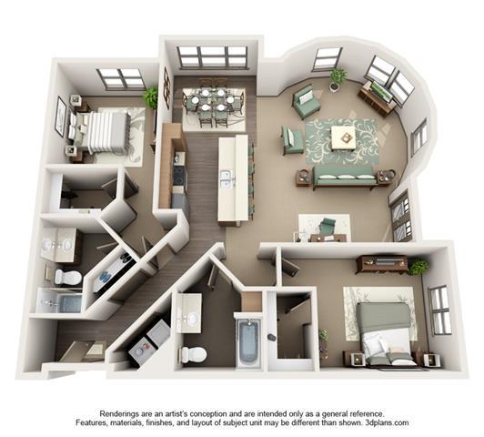 Floor Plans Platform Luxury Apartments Hillsboro - Round house floor plans
