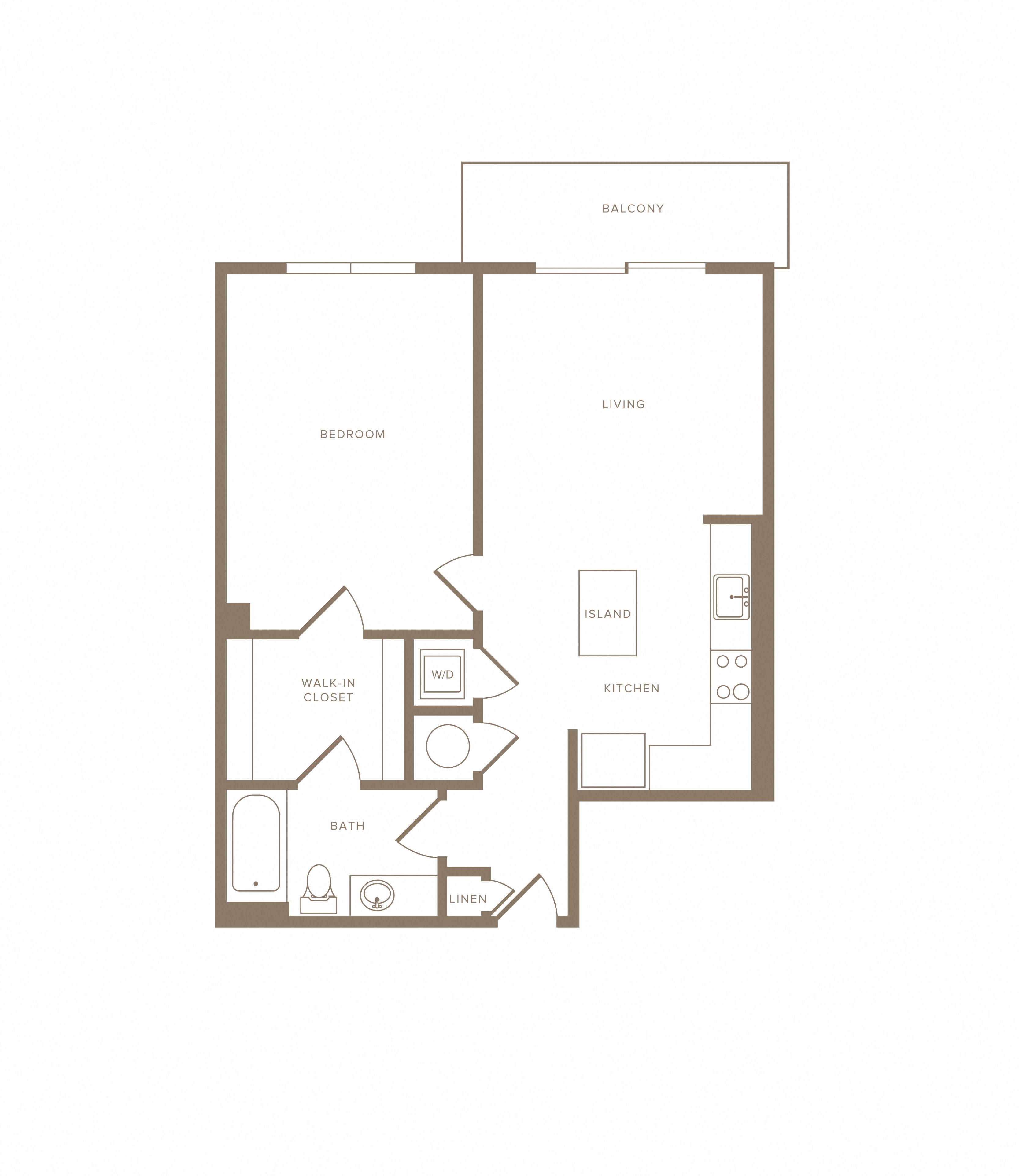 Apartment C-206 floorplan