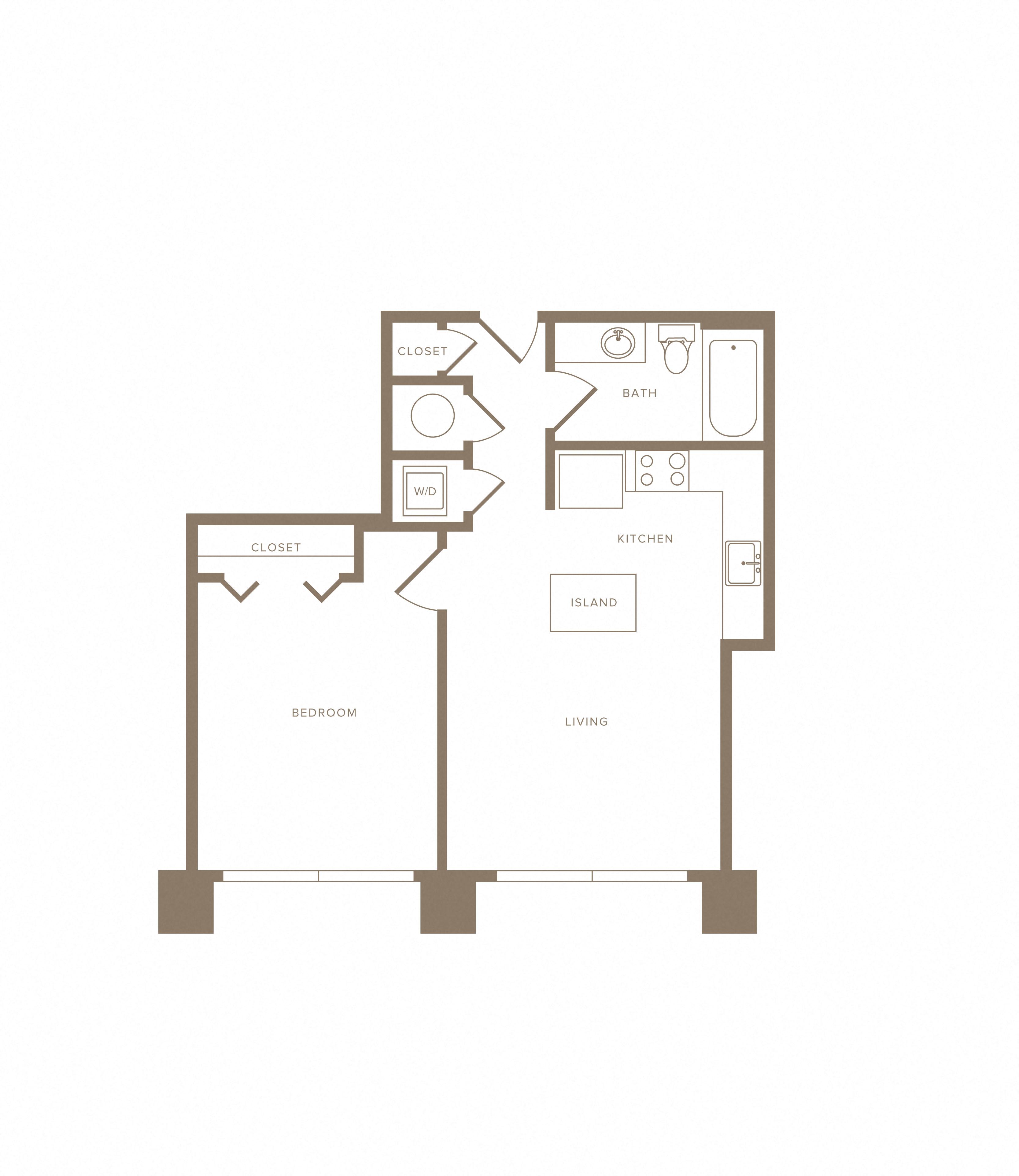 Apartment B-101 floorplan