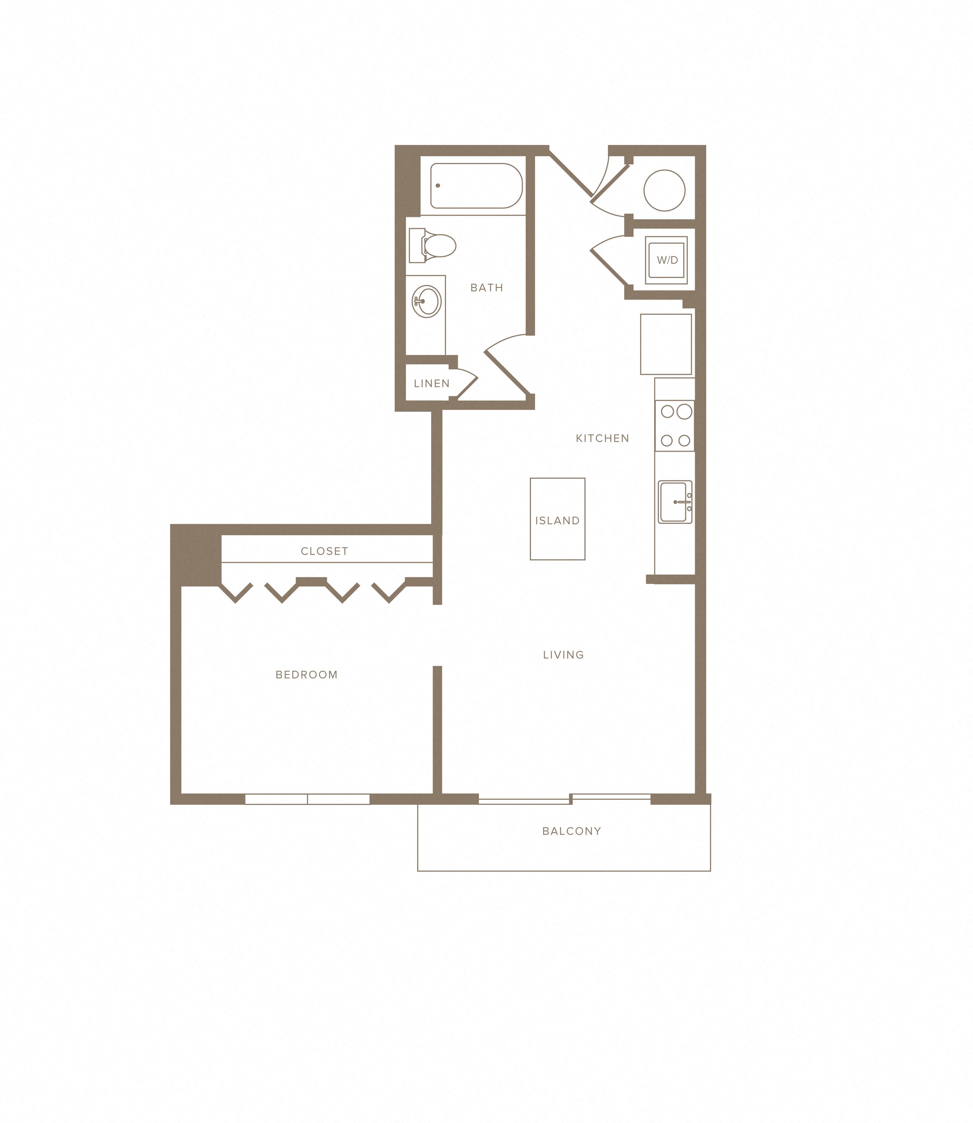Apartment F-809 floorplan