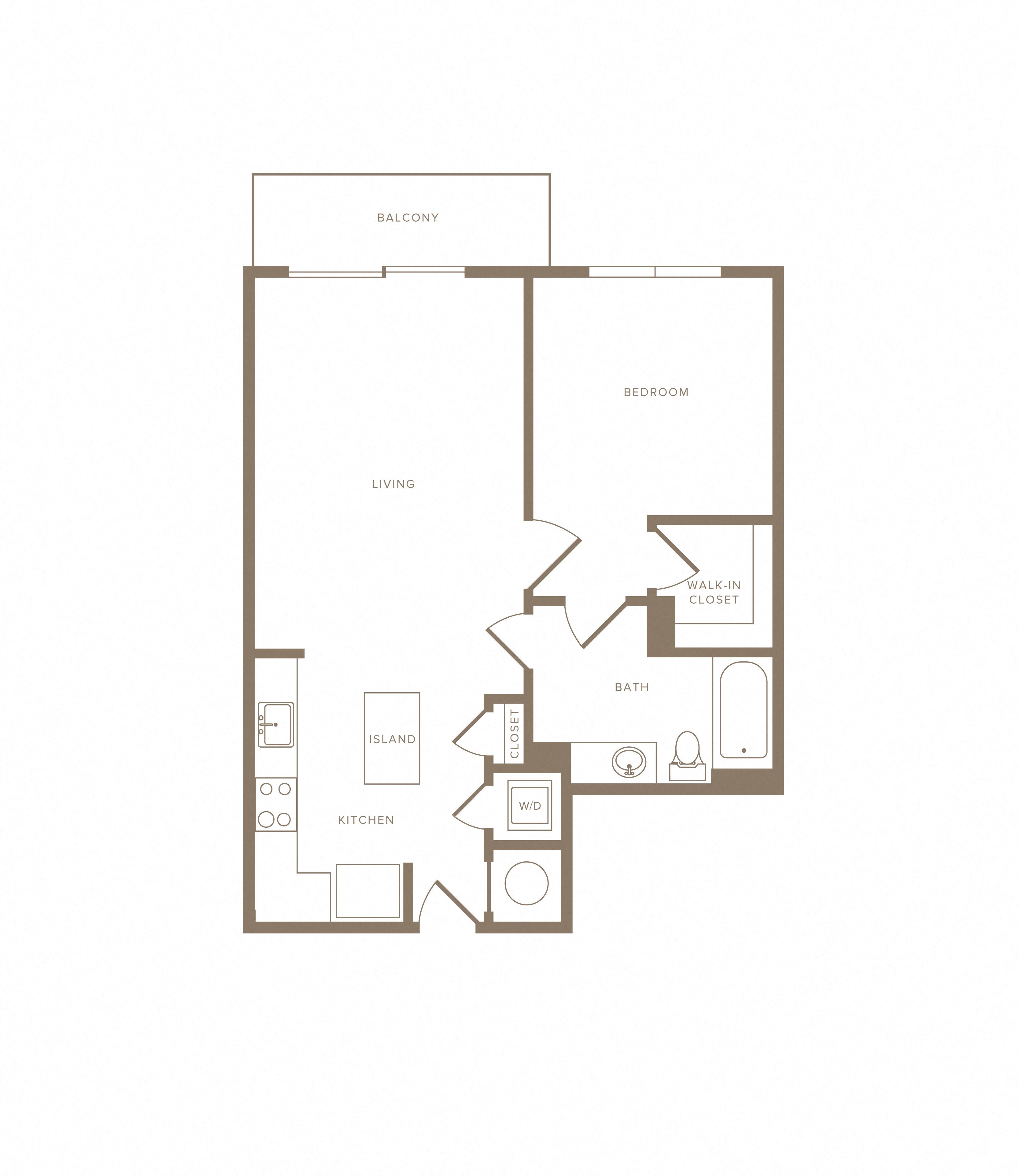 Apartment E-716 floorplan