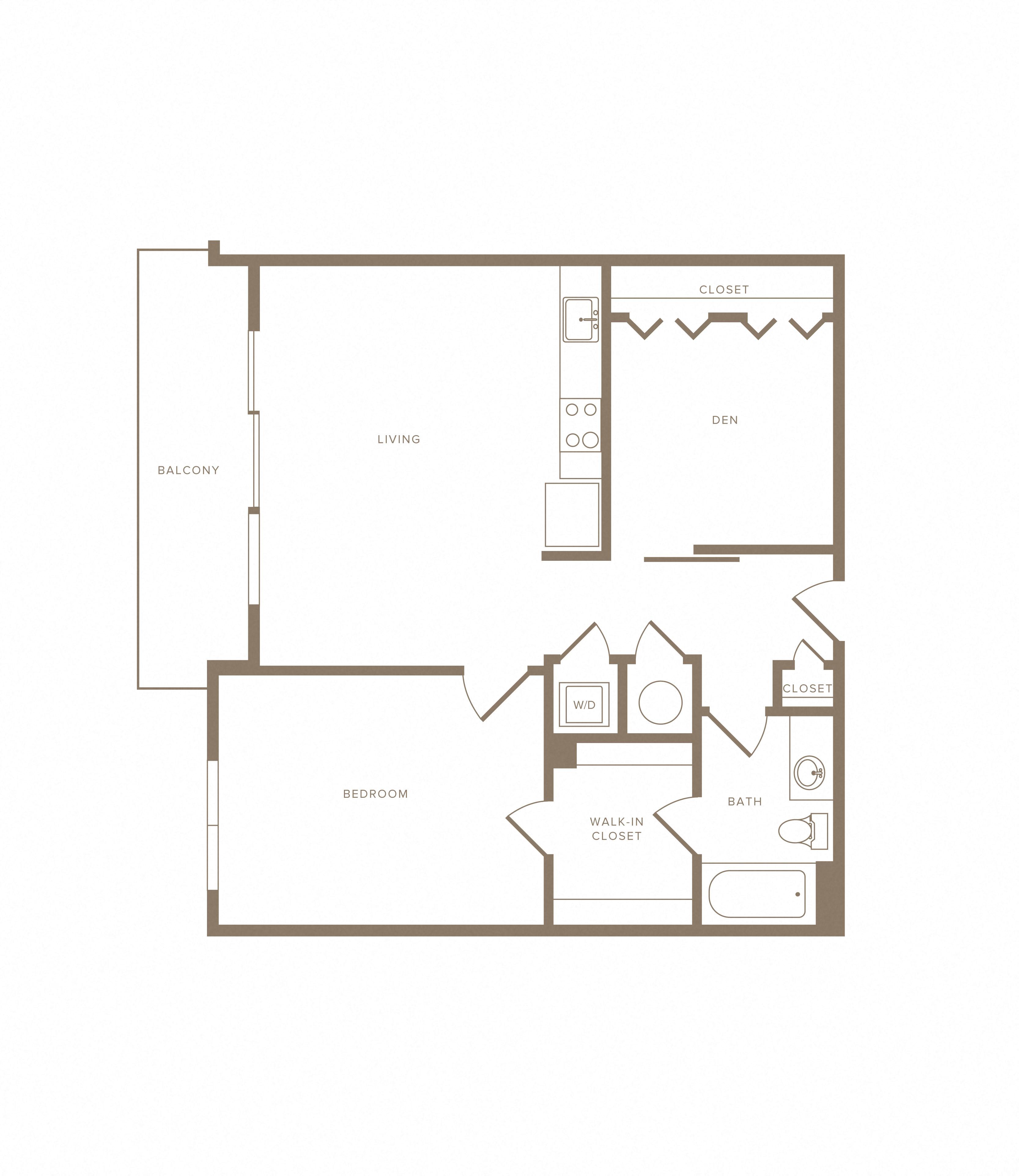 Apartment A-719 floorplan