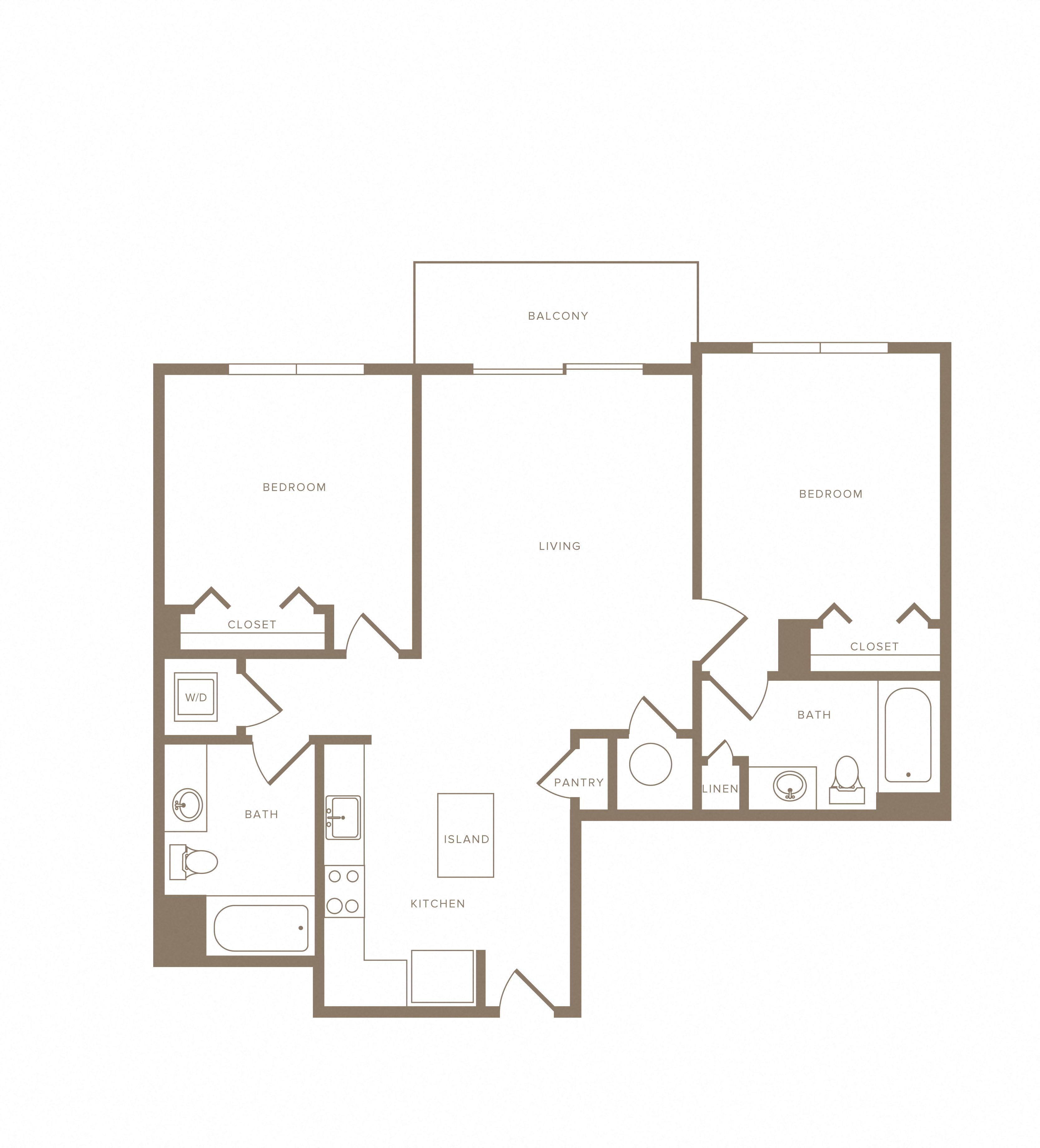 Apartment E-729 floorplan