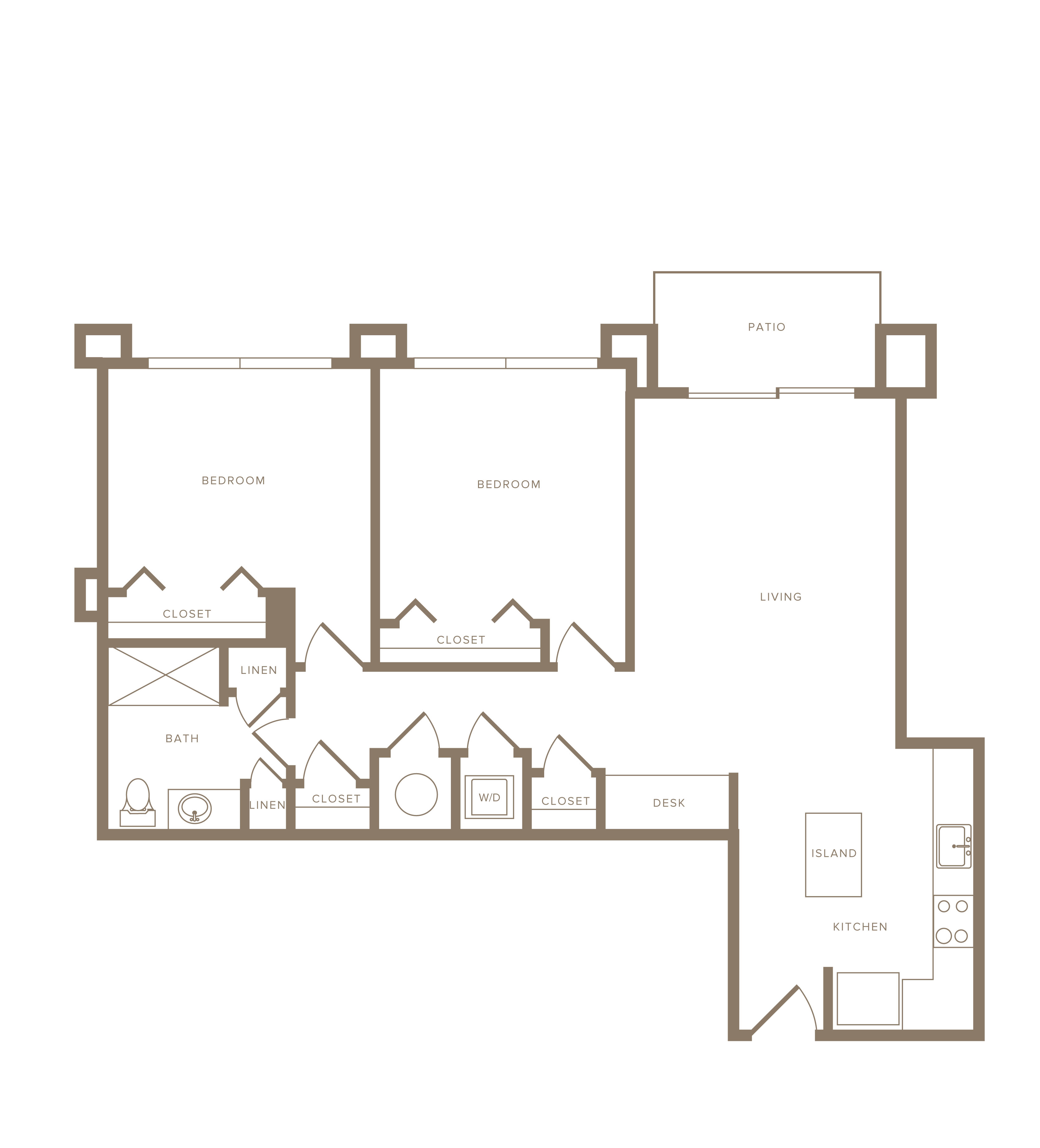 Apartment B-110 floorplan