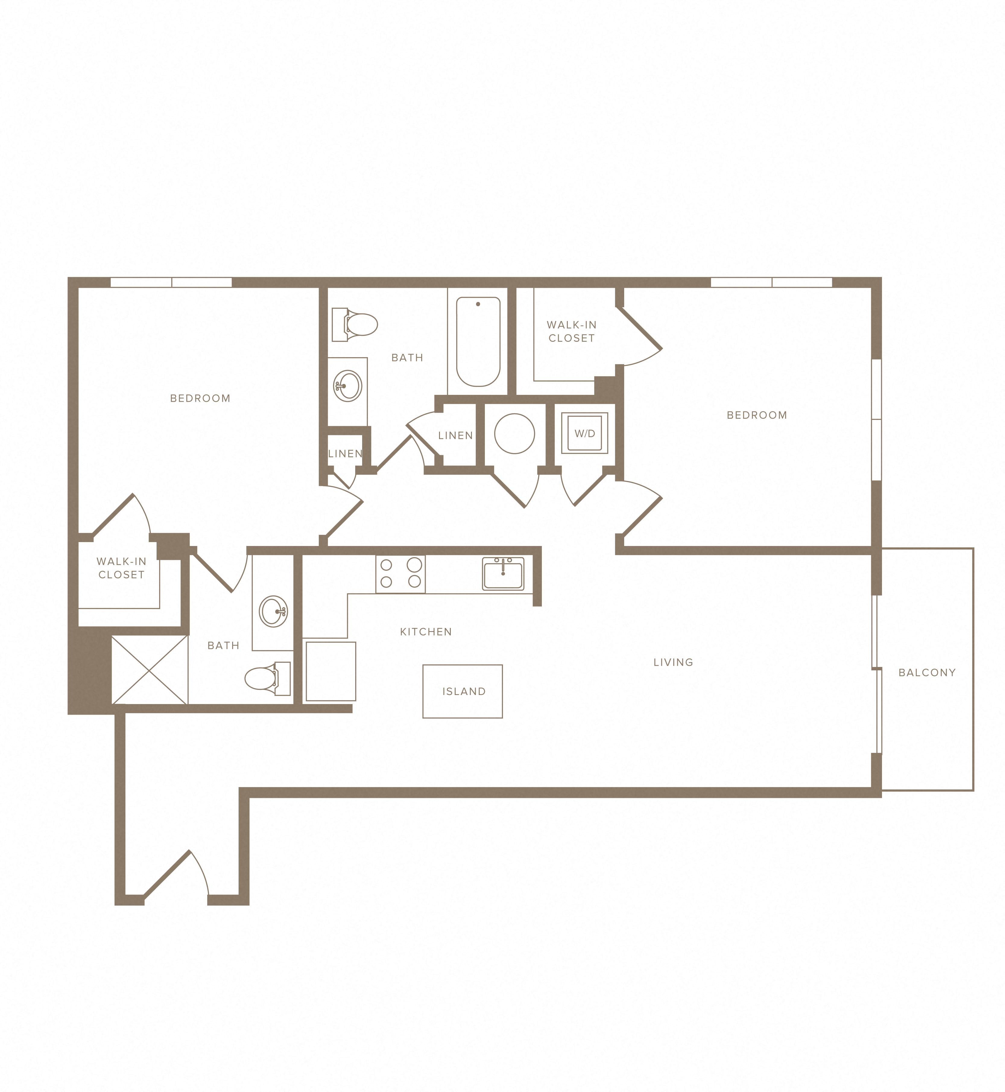 Apartment C-409 floorplan