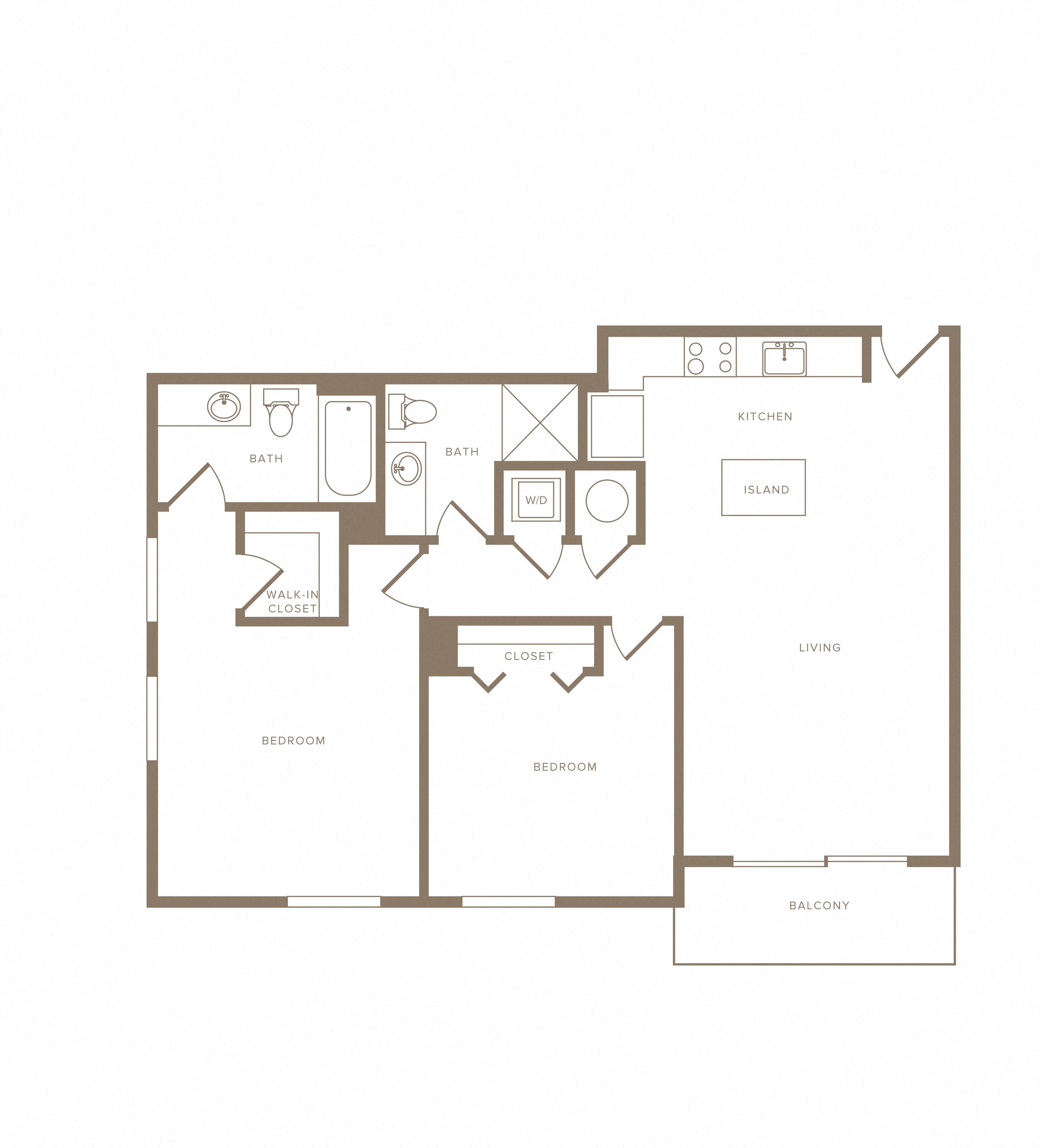 Apartment C-501 floorplan