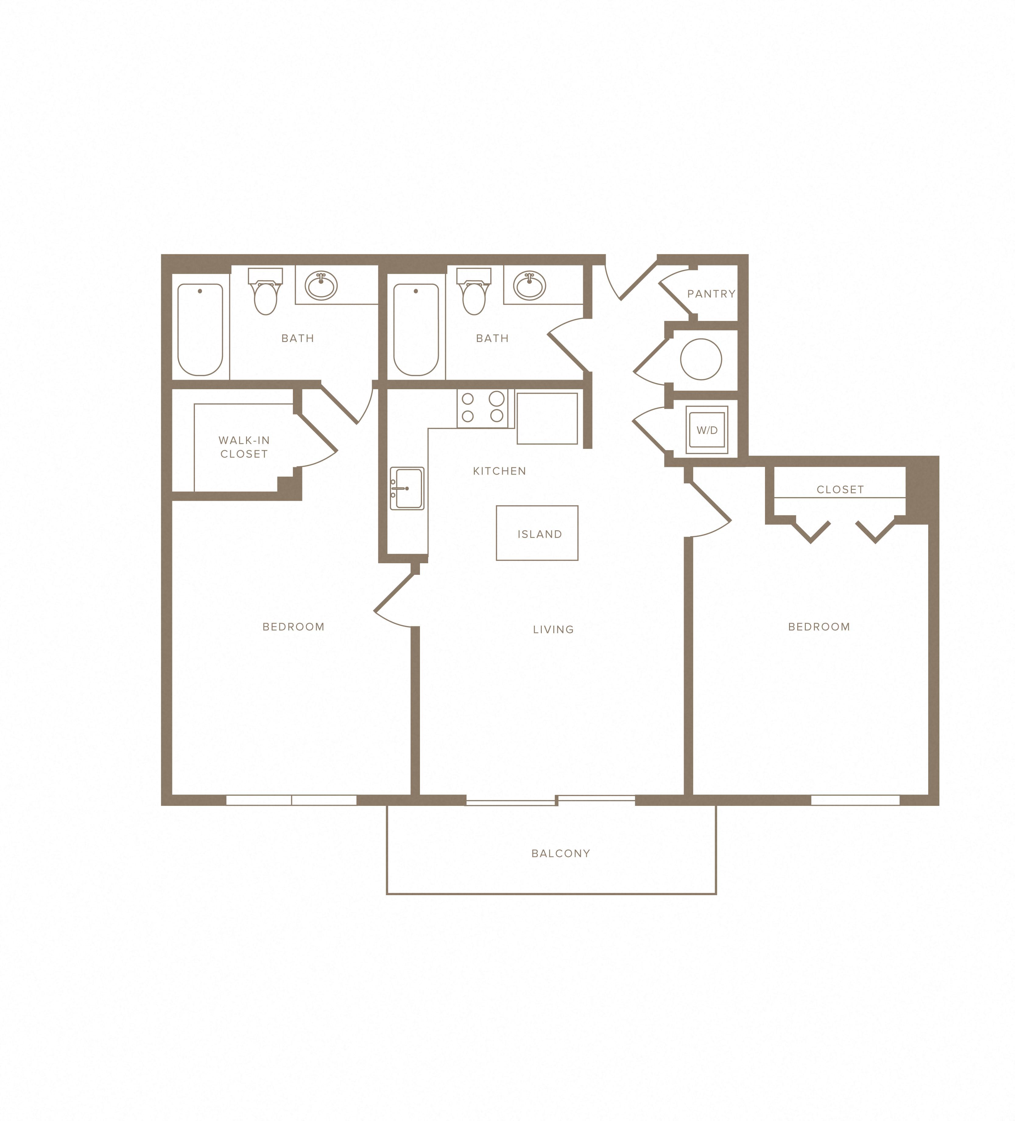 Apartment C-505 floorplan