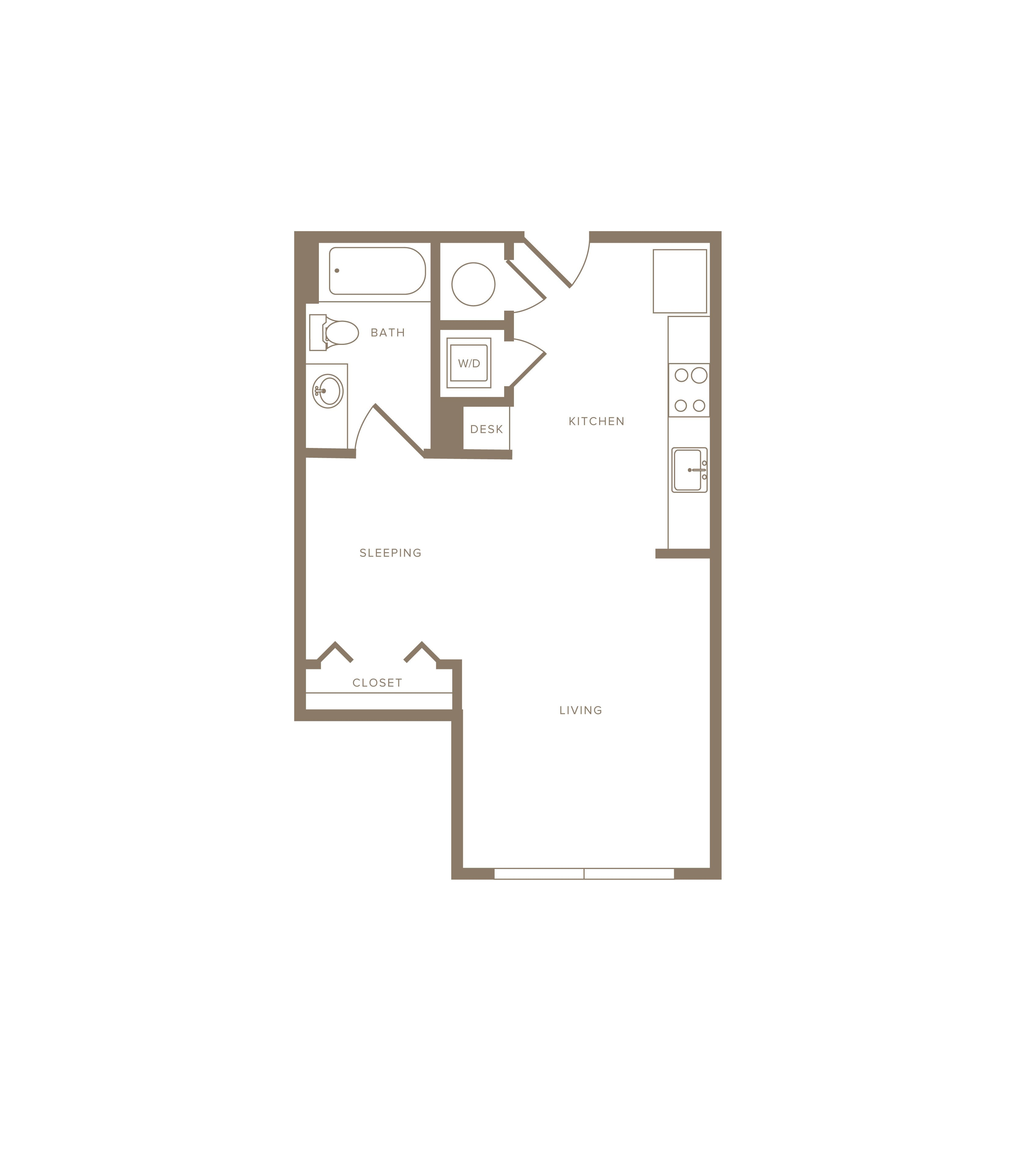 Apartment E-528 floorplan