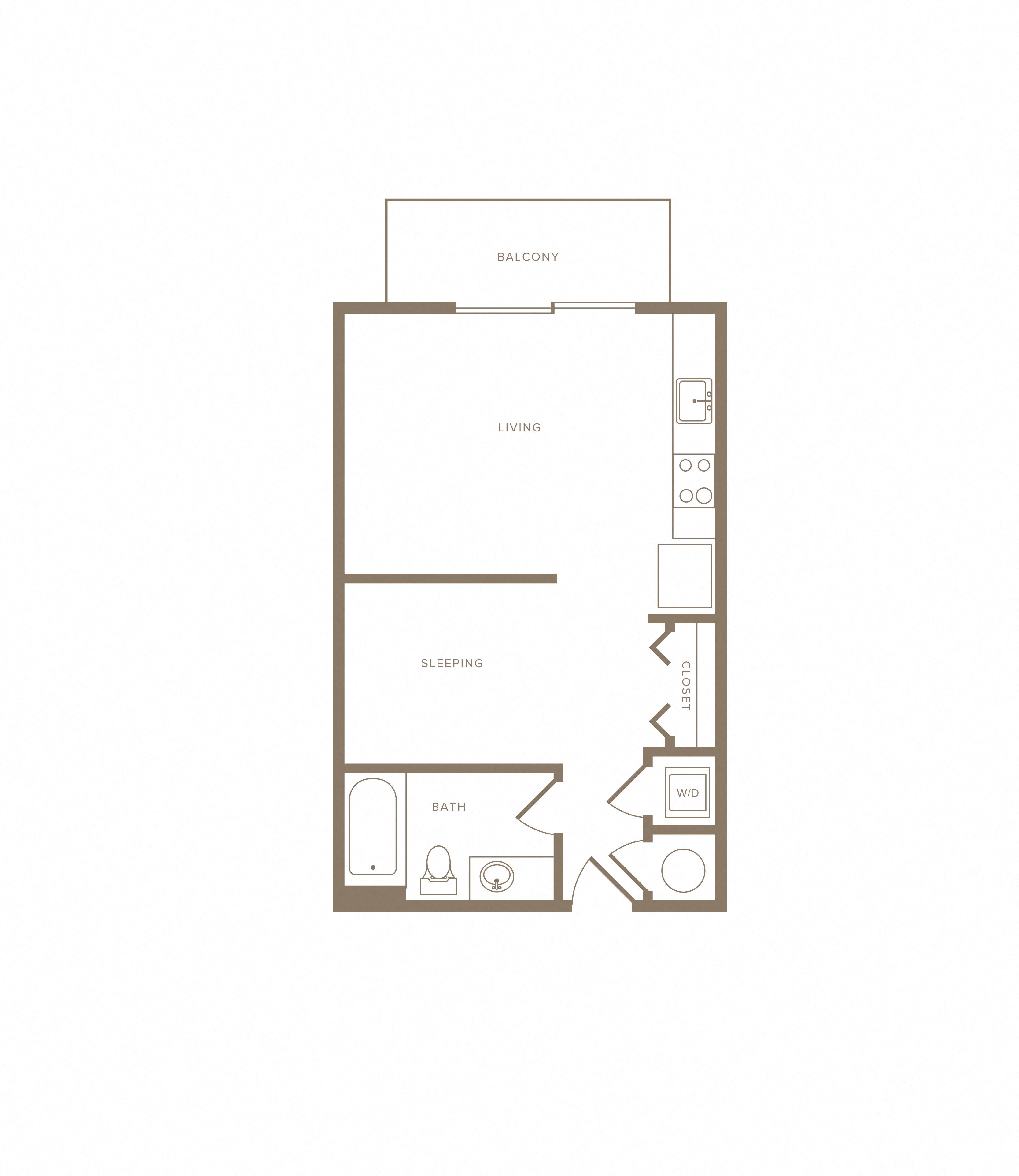 Apartment E-820 floorplan