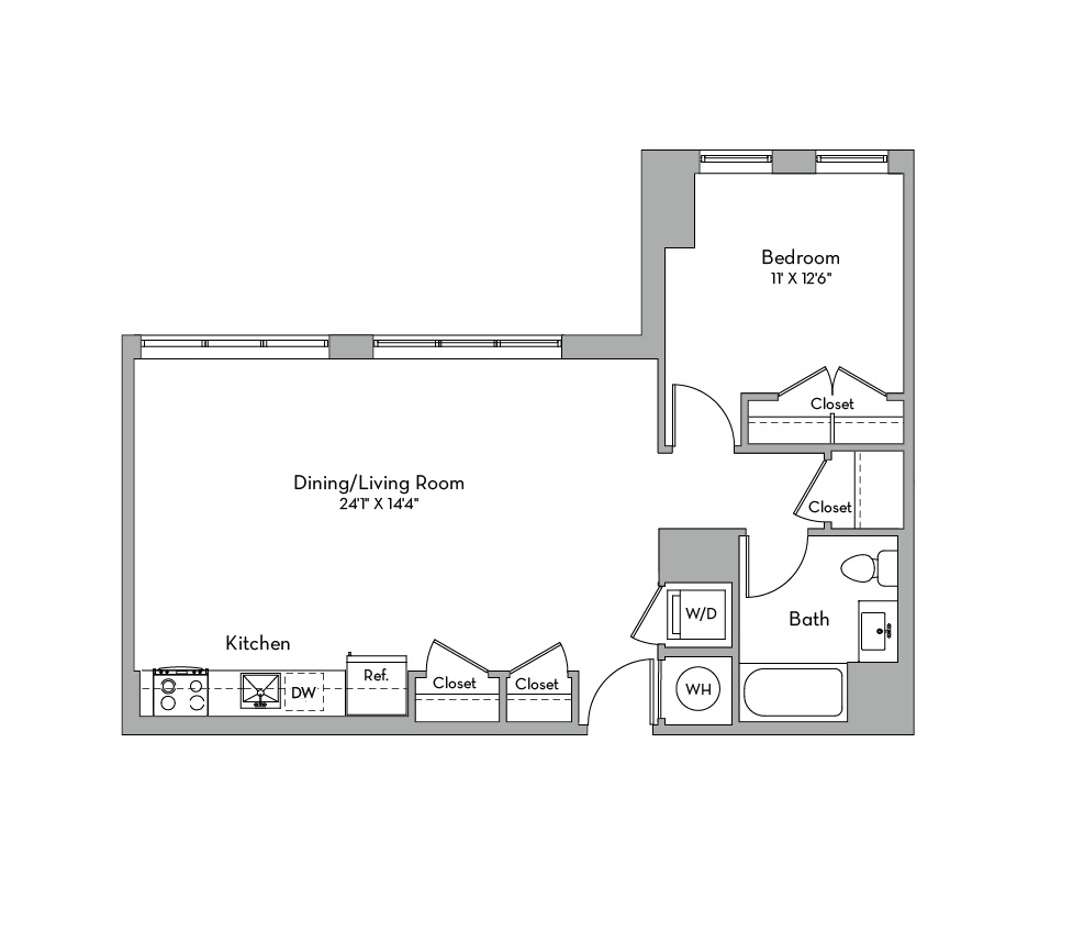Apartment 0830 floorplan
