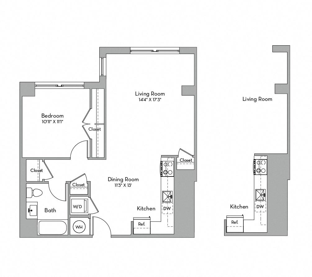 Apartment 0154 floorplan