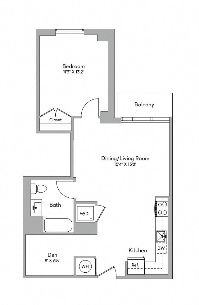 Apartment 0701 floorplan